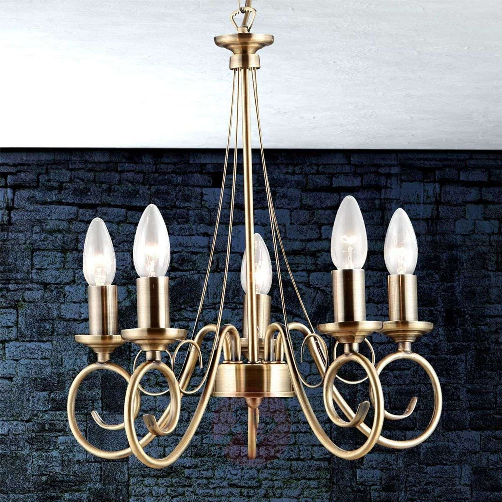 TRUNCATUS 5 Lamp Pendant Lamp in Antique Brass-4014351-01