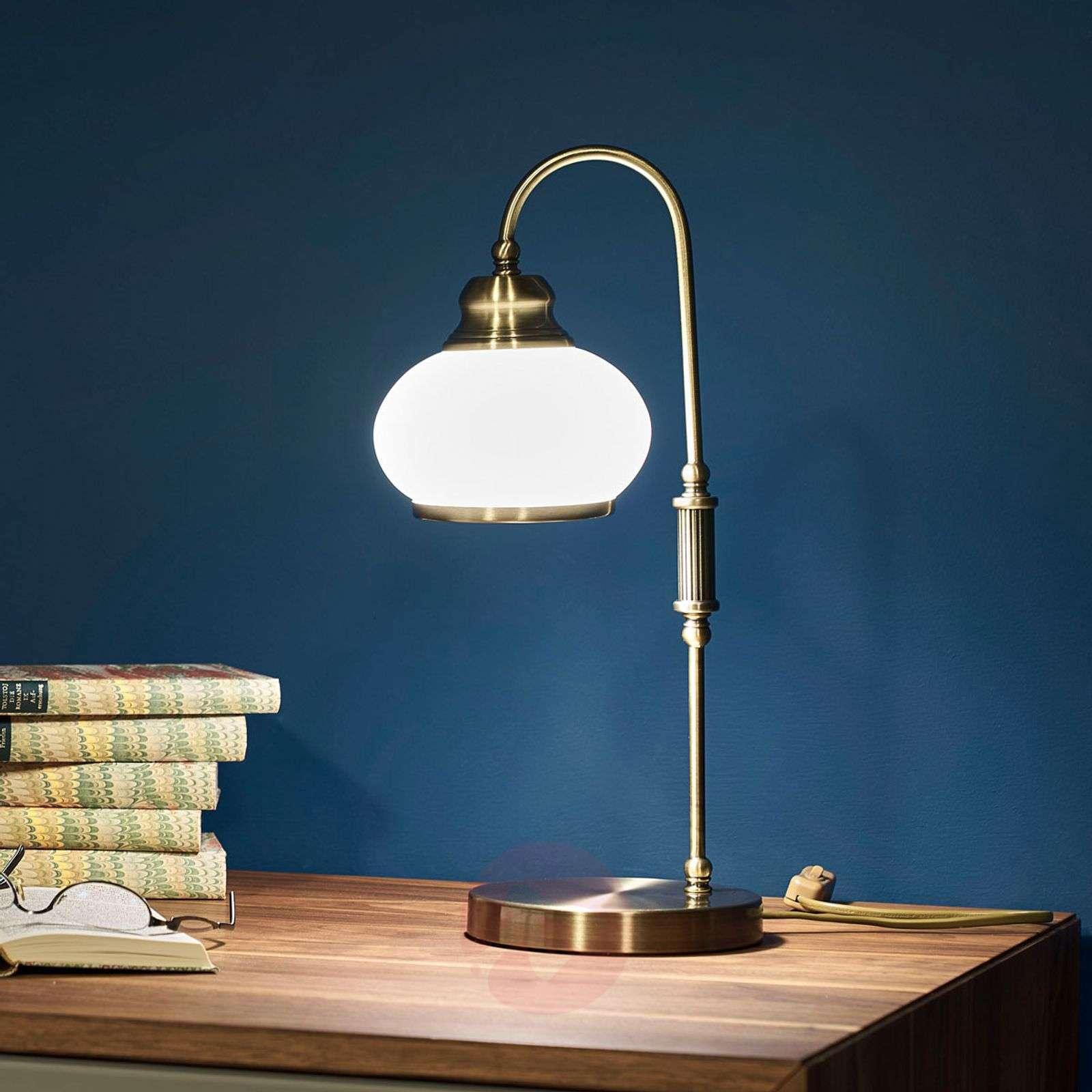 TRUNCATUS Antique Brass Table Lamp-4014358-01
