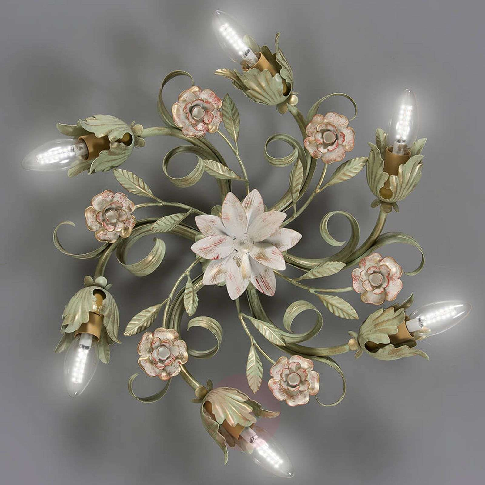 Tulipe floral ceiling light with six bulbs-3532168-01