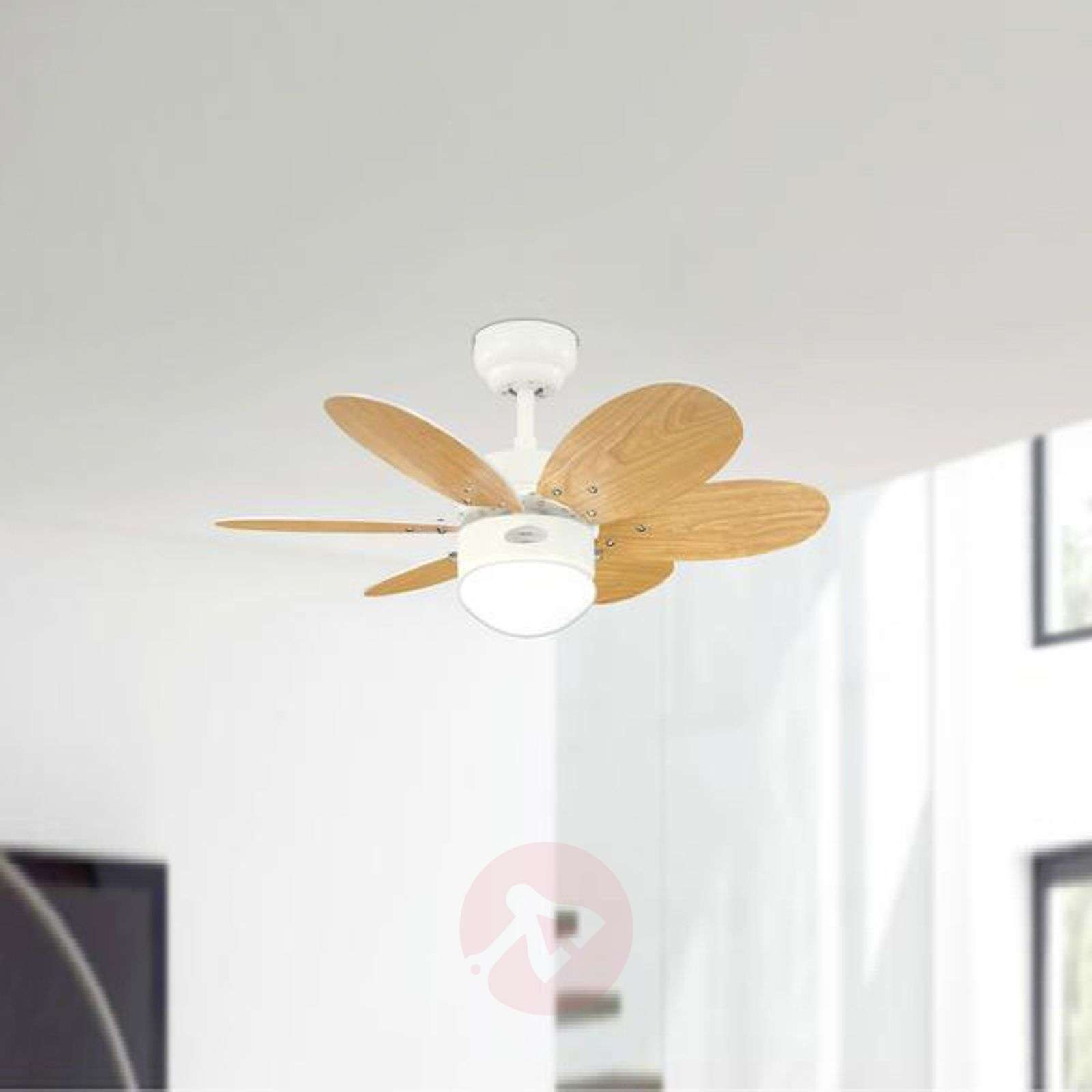 Turbo II ceiling fan with two sets of blades-9602030-02