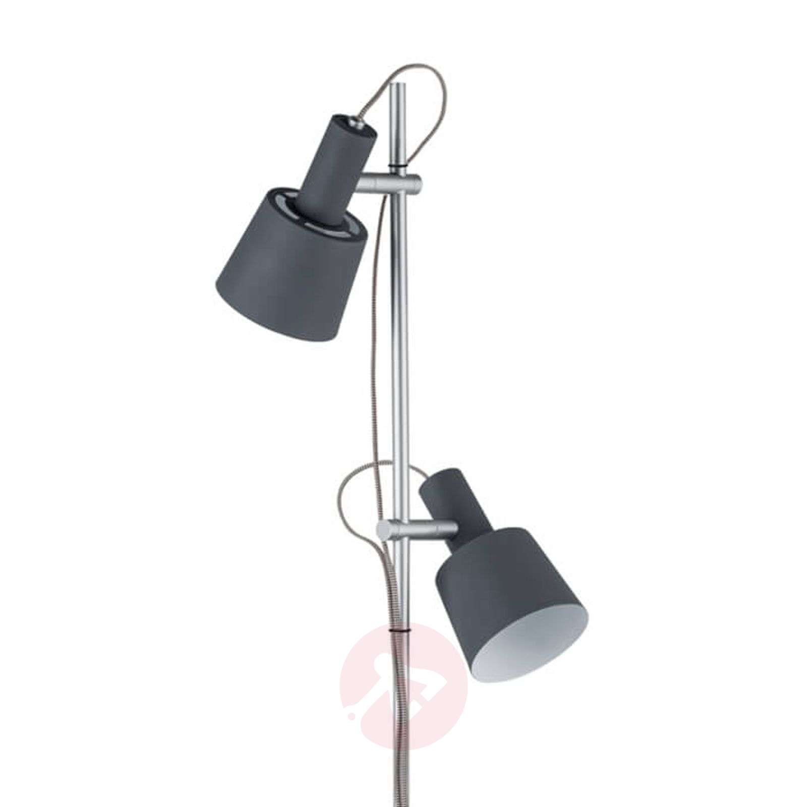 Two-bulb floor lamp Haldar, colour combination-7601069-01