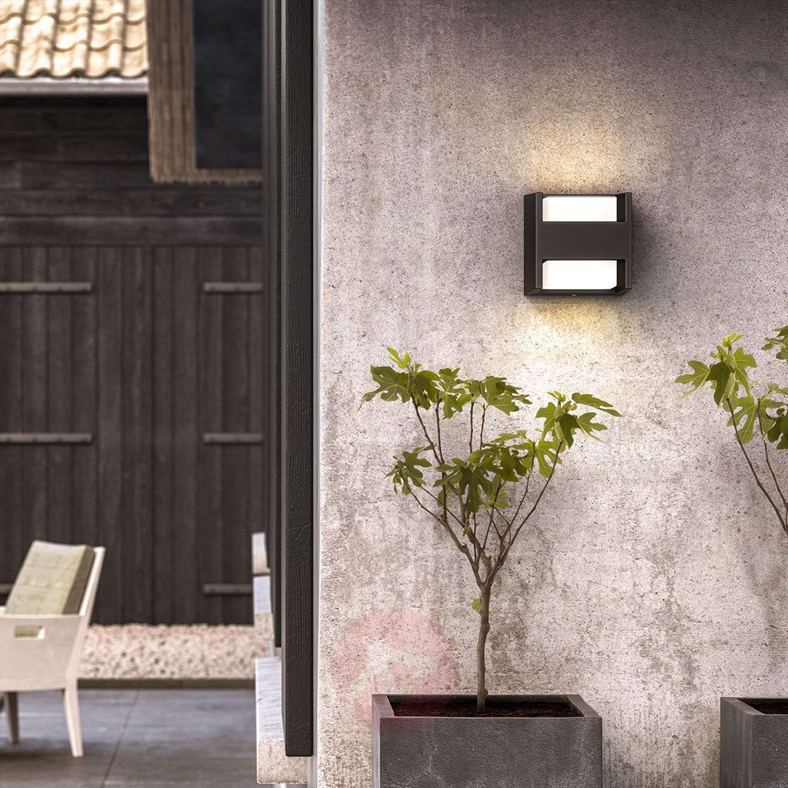 Two-bulb LED outdoor wall light Arbour, IP44-7531799-01