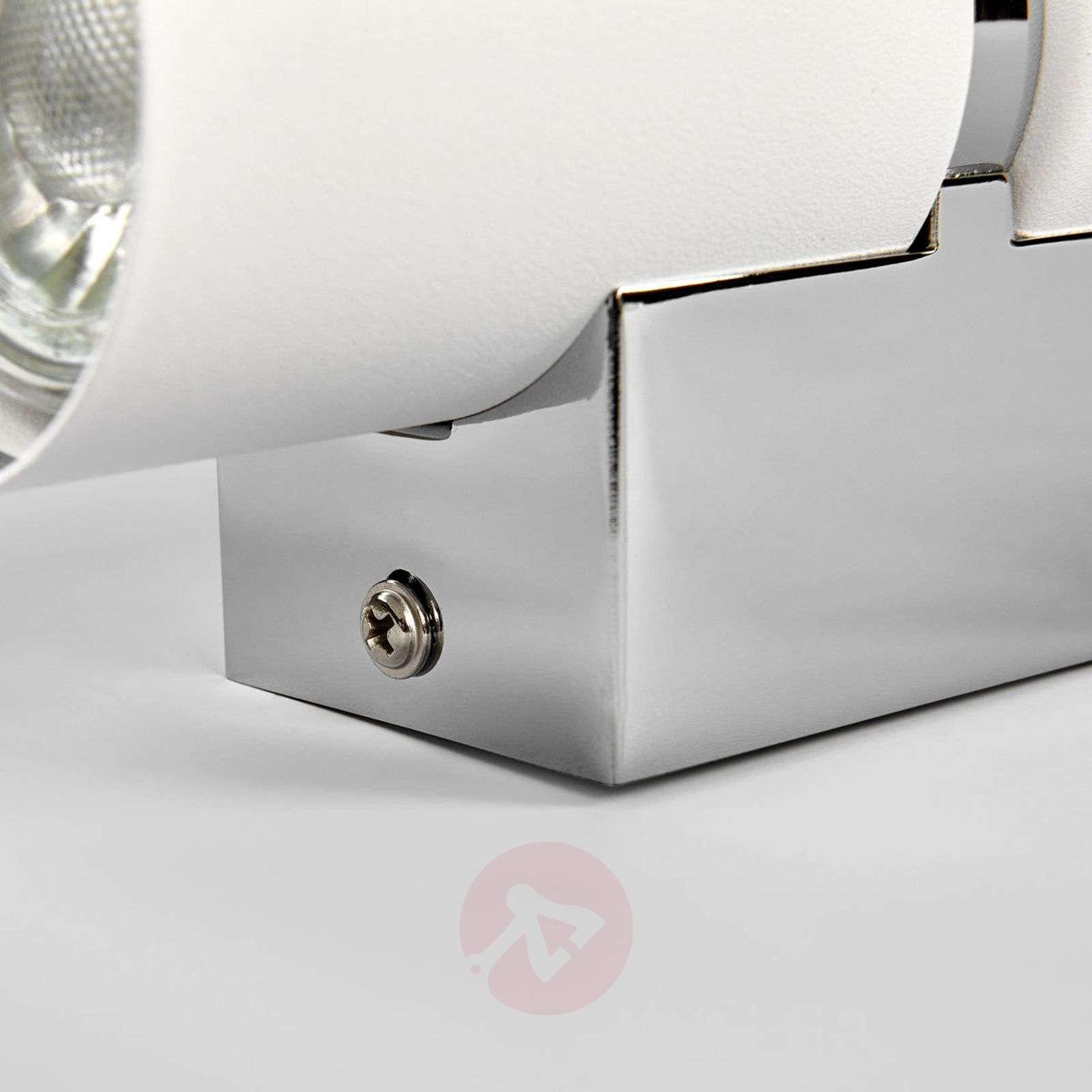 Two-bulb LED wall light Passa, round, white-3031829-01
