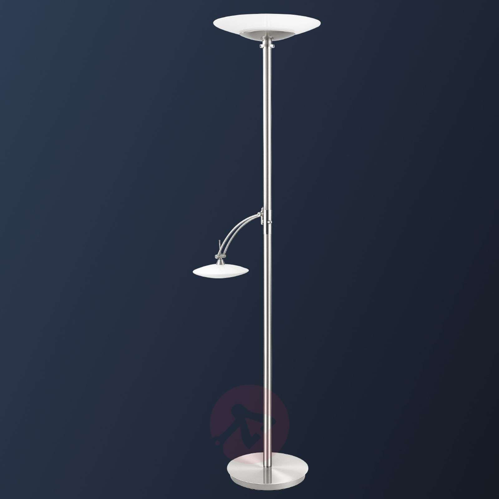 Two bulb new elina nickel led floor lamp lights two bulb new elina nickel led floor lamp 8504795 01 aloadofball Image collections