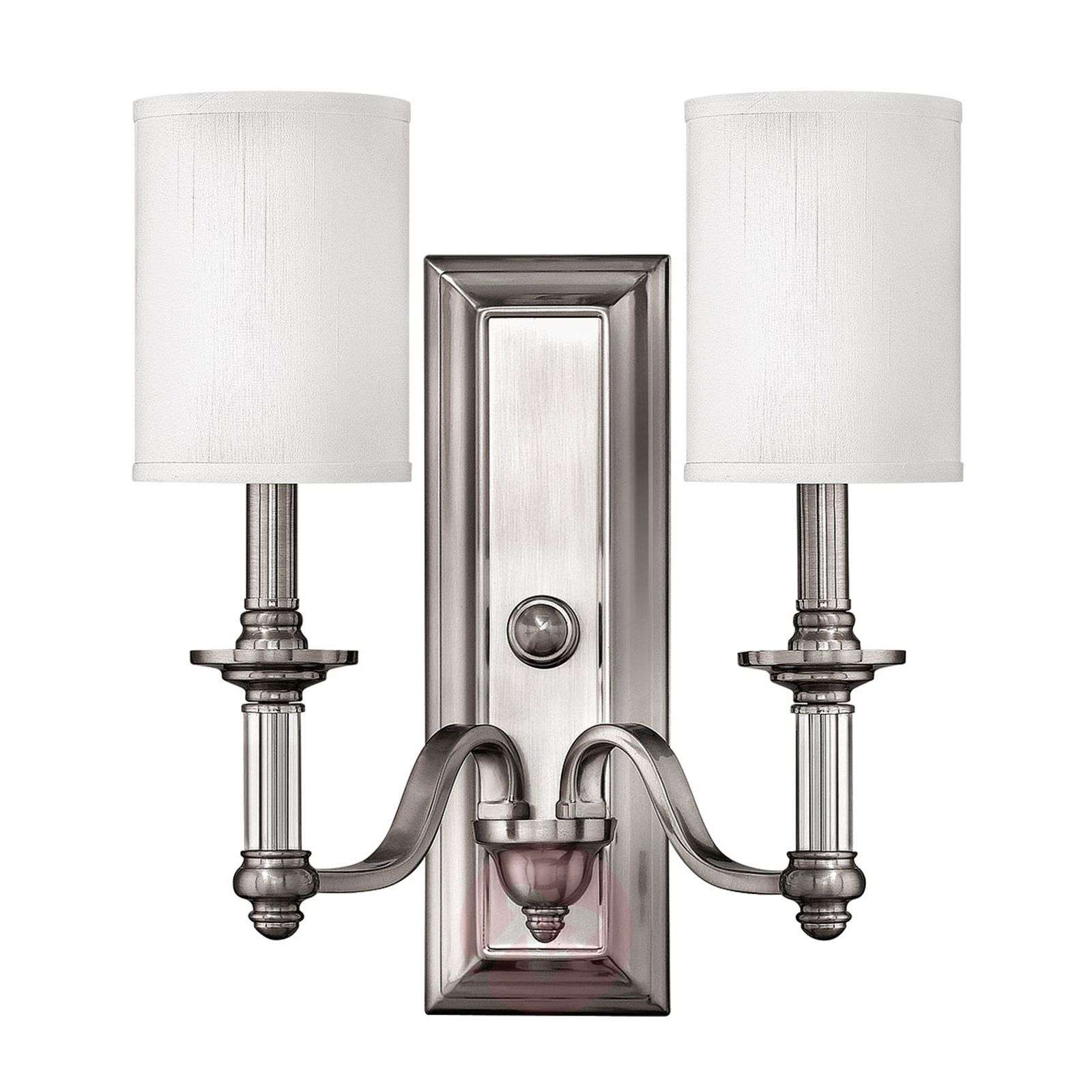 Two-bulb wall lamp Sussex, brushed nickel-3048890-01