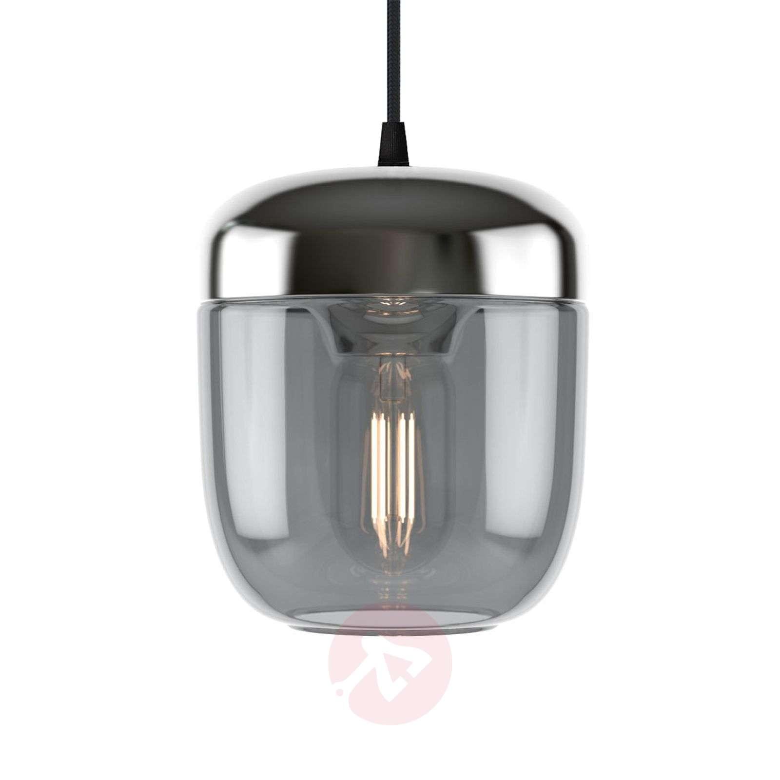 UMAGE Acorn hanging lamp 1-bulb smoky grey steel-9521219-01