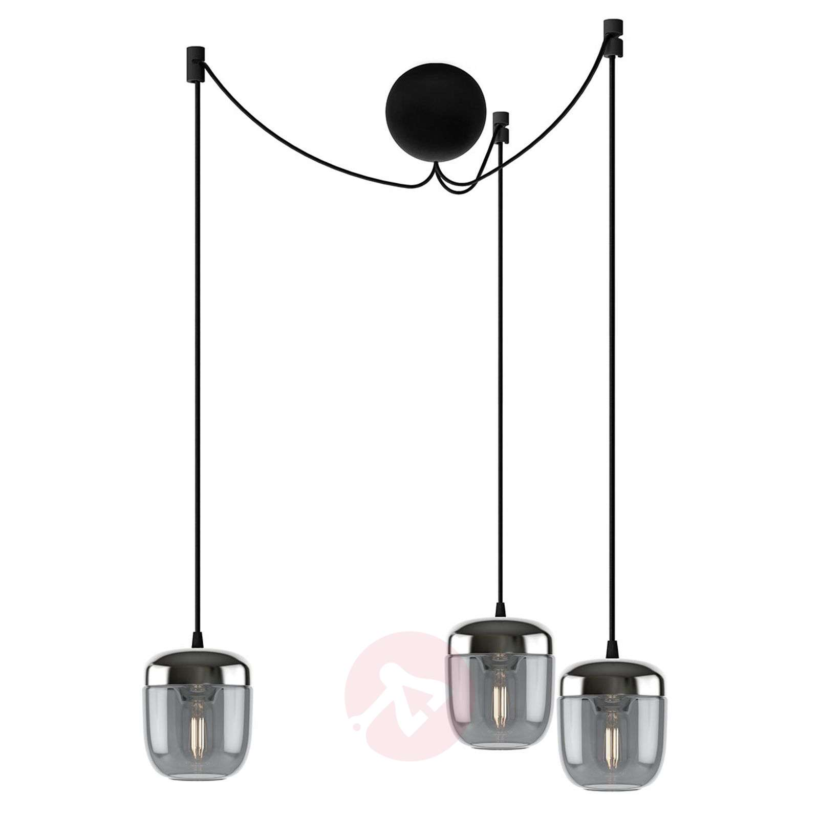 UMAGE Acorn hanging lamp 3-bulb smoky grey steel-9521221-01