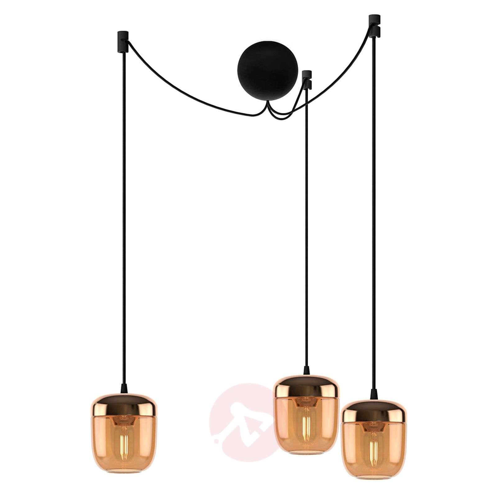 UMAGE Acorn hanging lamp three-bulb amber brass-9521224-01