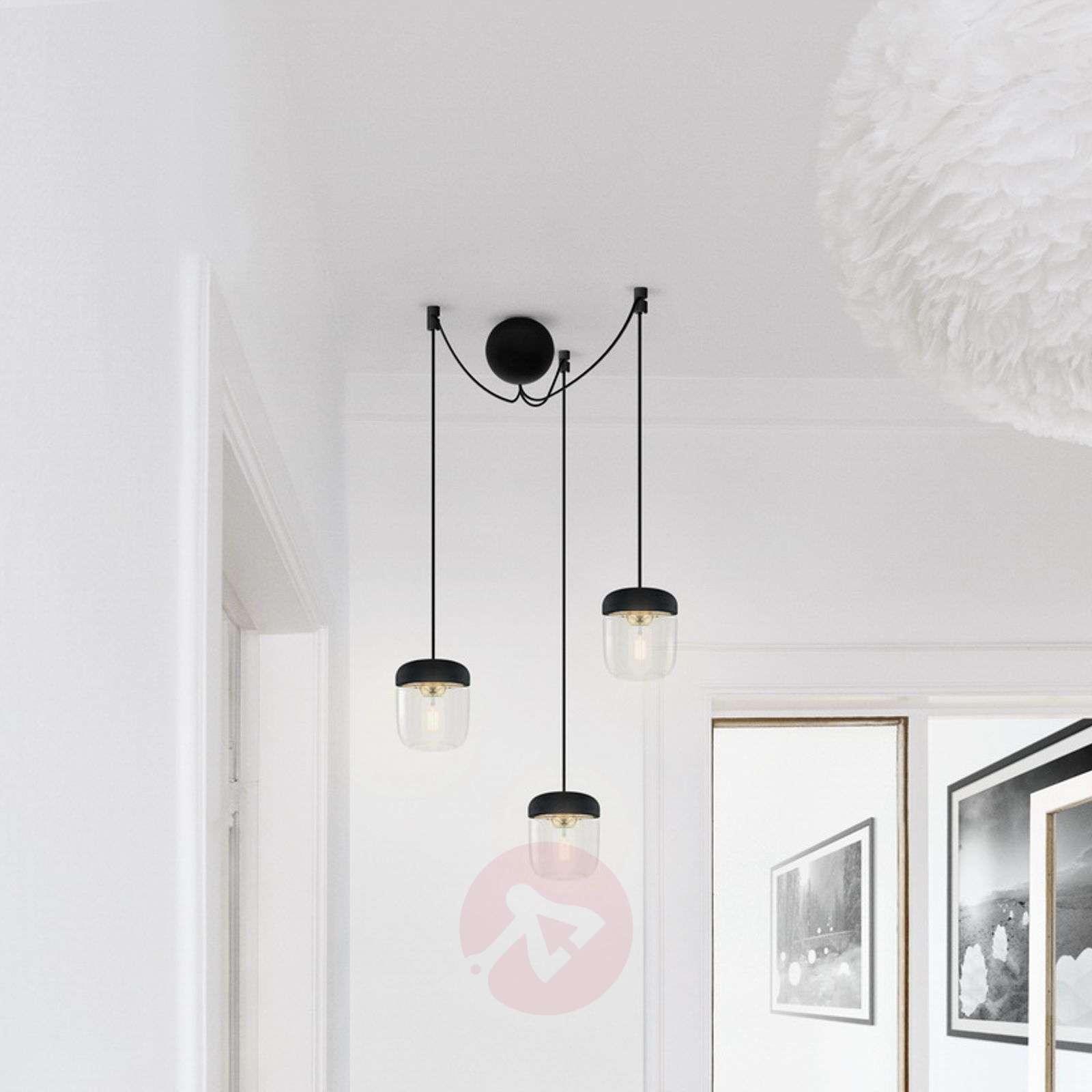 UMAGE Acorn hanging lamp three-bulb black/brass-9521097-01