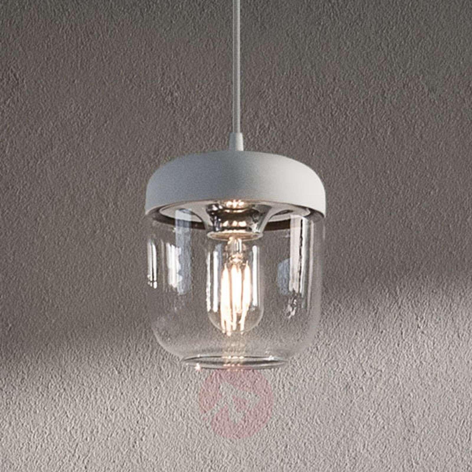 UMAGE Acorn hanging lamp white/steel-9521072-01