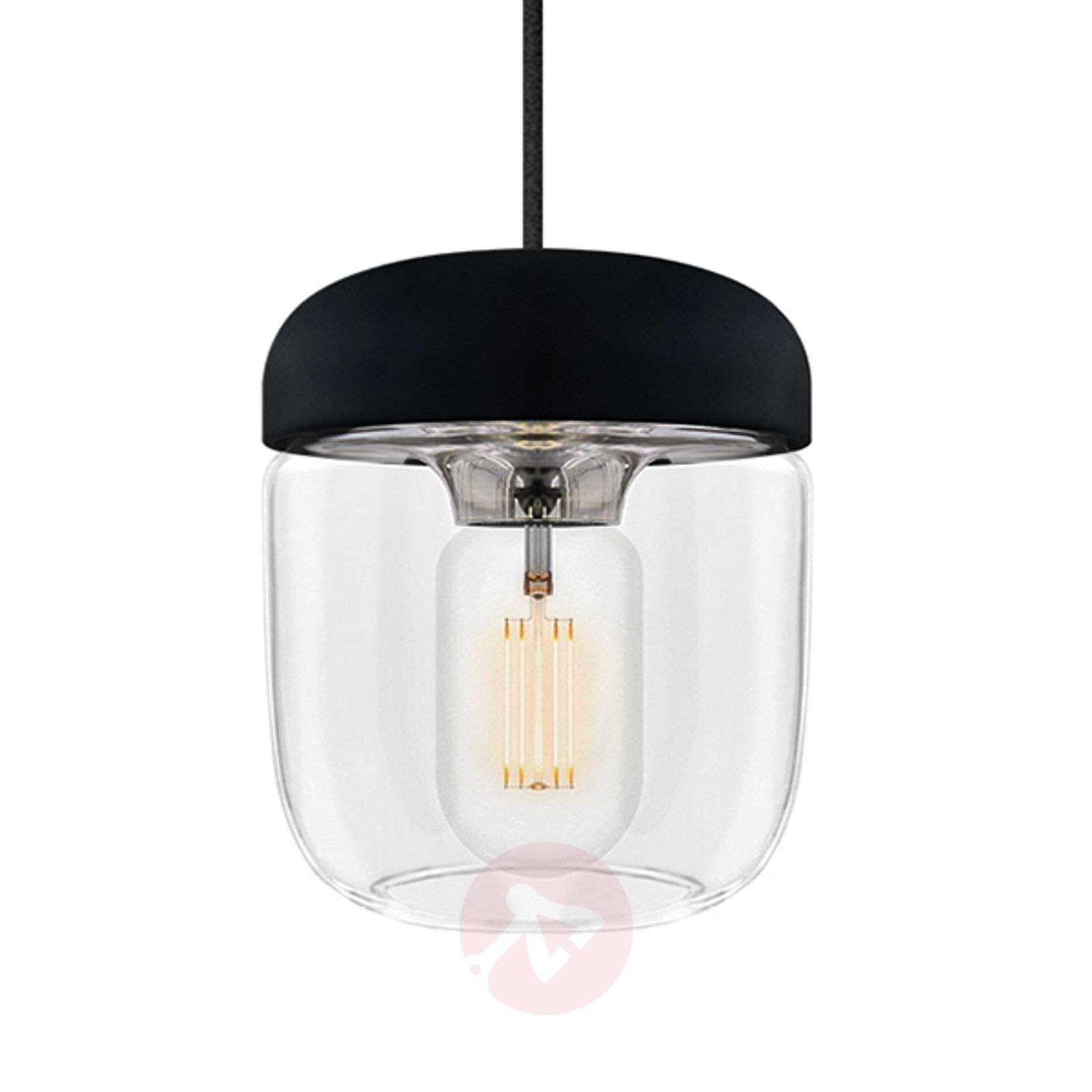 UMAGE Acorn hanging light black/steel-9521078-01