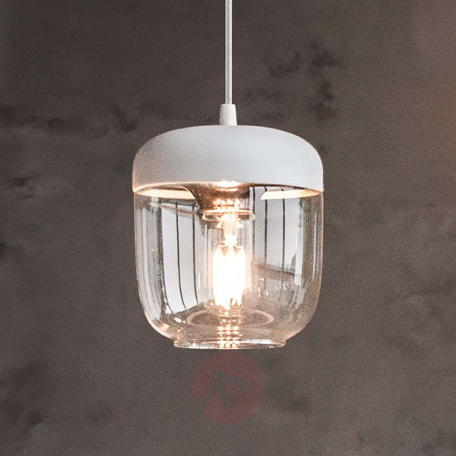 UMAGE Acorn hanging light white/copper-9521076-01