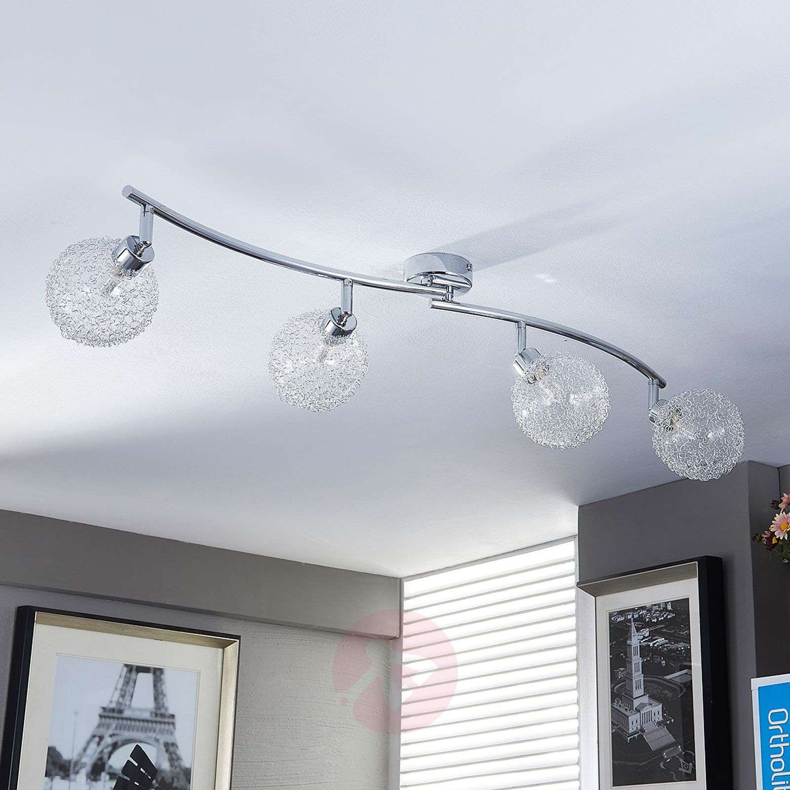 Undulating G9 ceiling lamp Ticino with LEDs-9620781-03