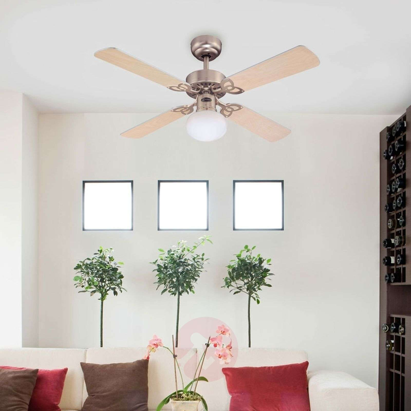 Vegas ceiling fan with light in brushed aluminium lights vegas ceiling fan with light in brushed aluminium 9602209 06 aloadofball Image collections