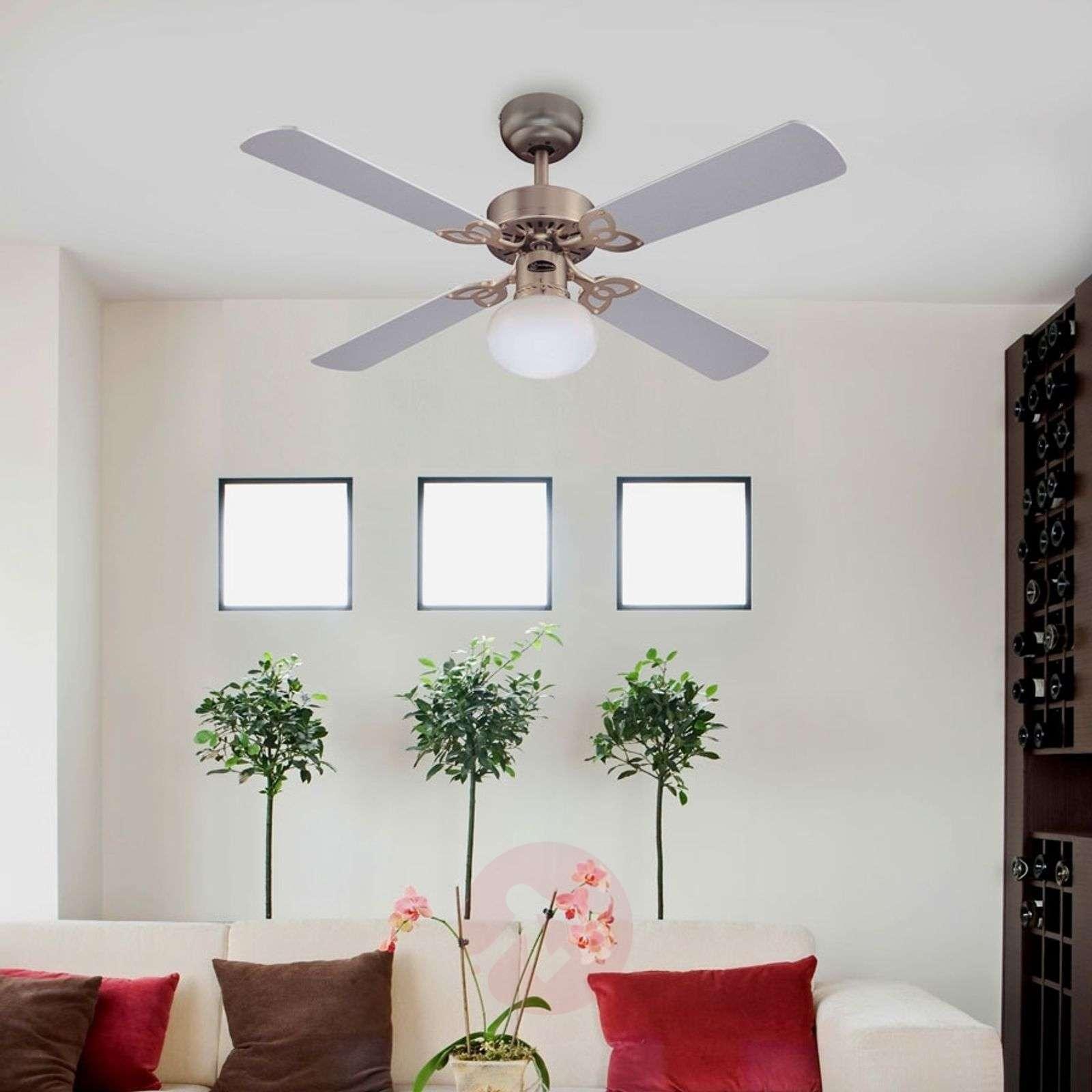 Vegas ceiling fan with light in brushed aluminium lights vegas ceiling fan with light in brushed aluminium 9602209 06 aloadofball Choice Image