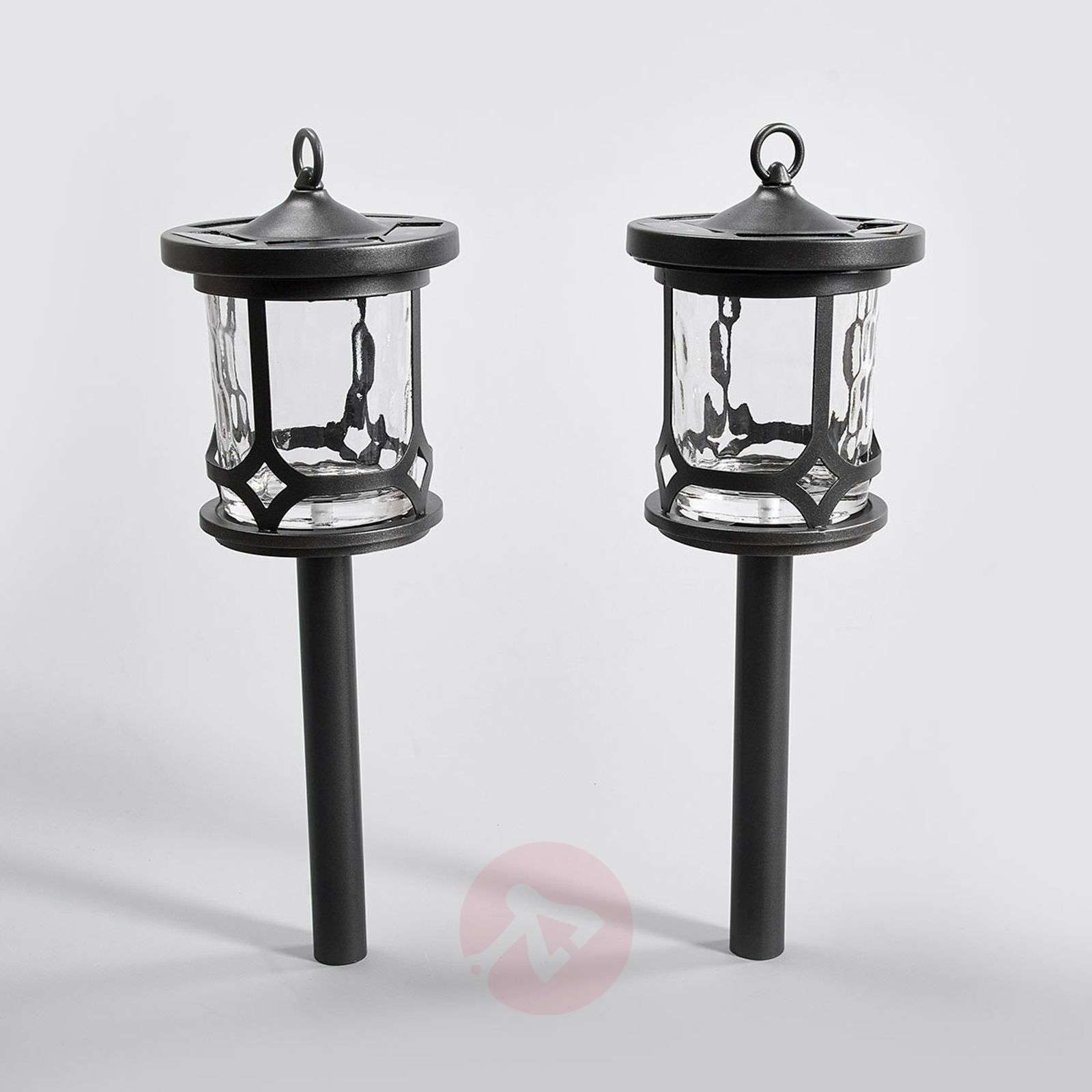 Versatile LED solar light Oskar in set of 2-2610030-01