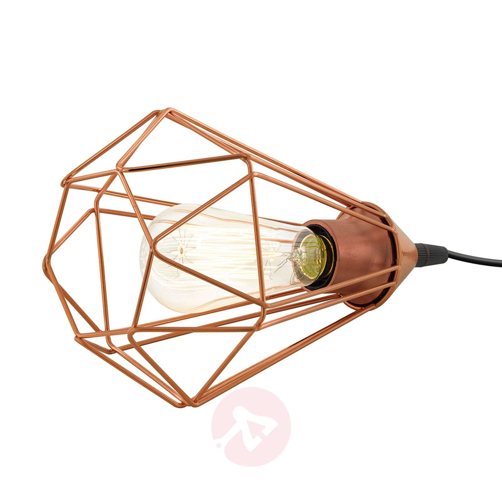 Vintage table lamp Tarbes with copper finish-3031865-01