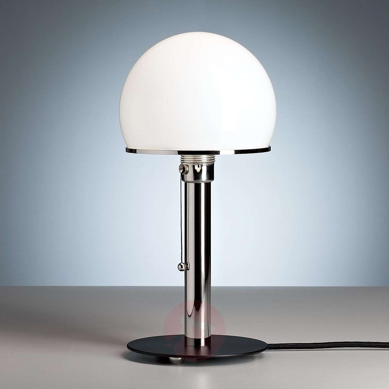 Wagenfeld table lamp with a black painted base-9030002-01
