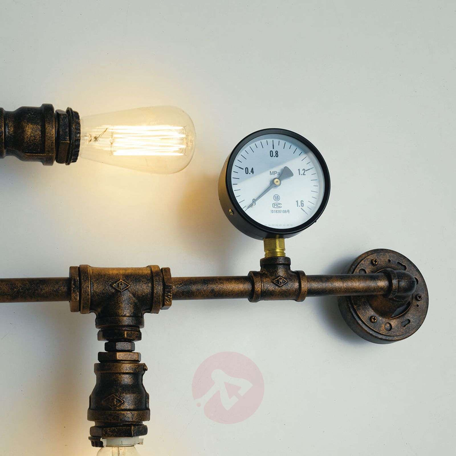 Wall lamp Amarcord in a rusty pipe design-3006656-01
