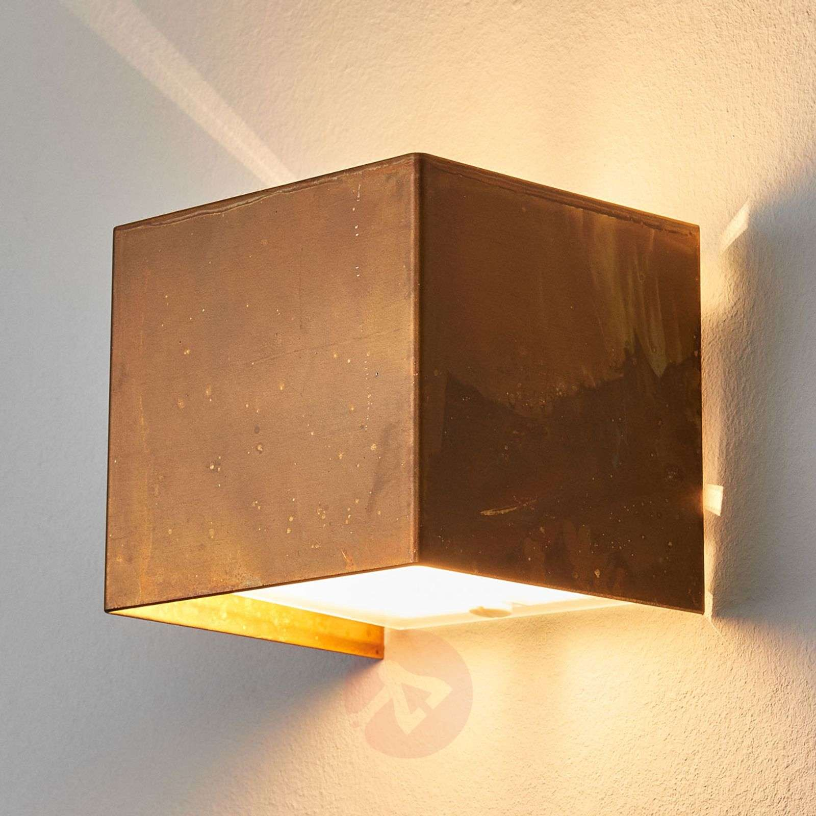 Wall lamp LOLA with oxidized brass-4011107-01