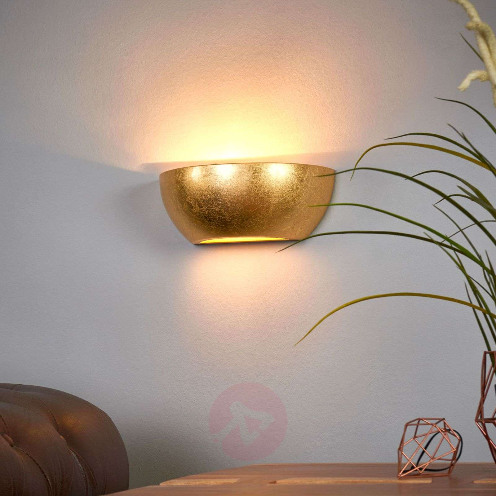 Wall light Kolja with a golden foil finish-9613061-02