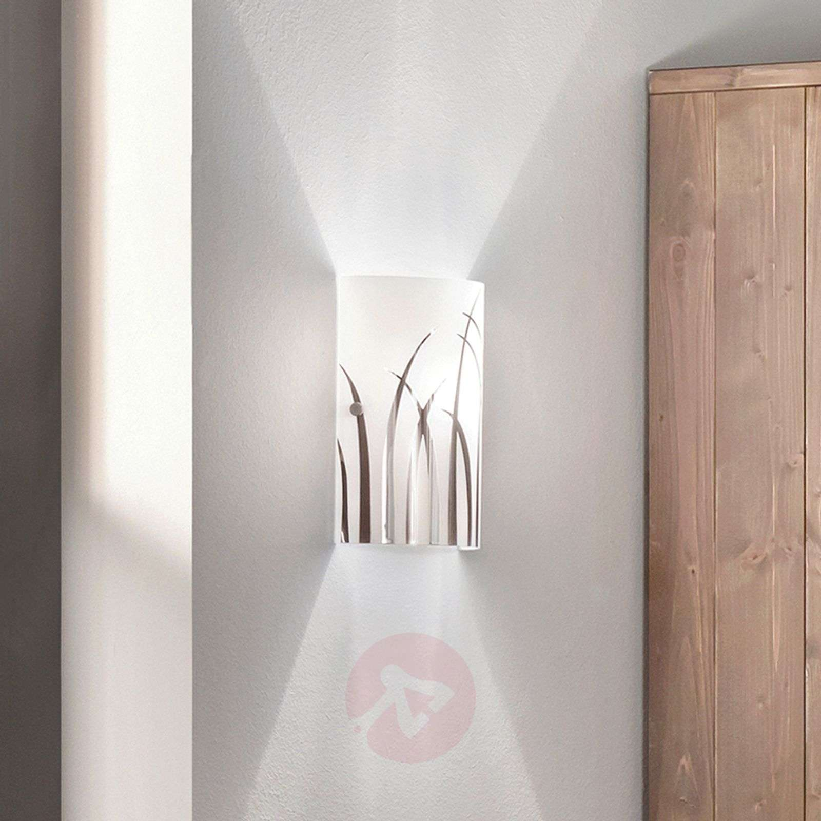 Wall light Rivato w. chrome-coloured grass pattern-3031926-01