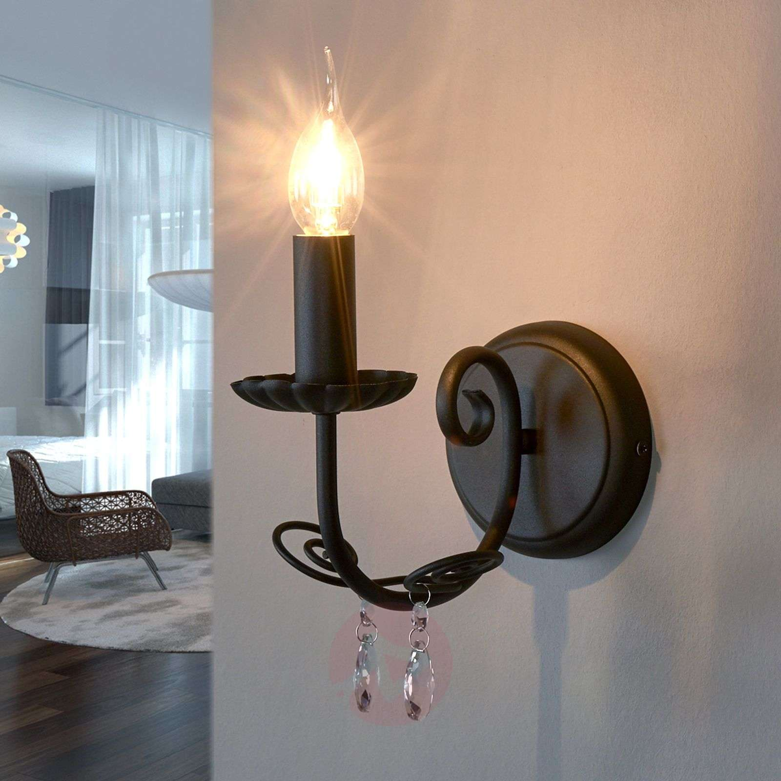 Wall light Sophina with chandelier style-9639021-01