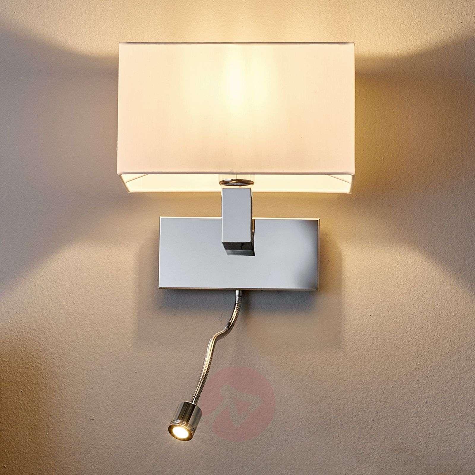 Wall light Tamara with fabric shade, LED flex arm-9976011-01