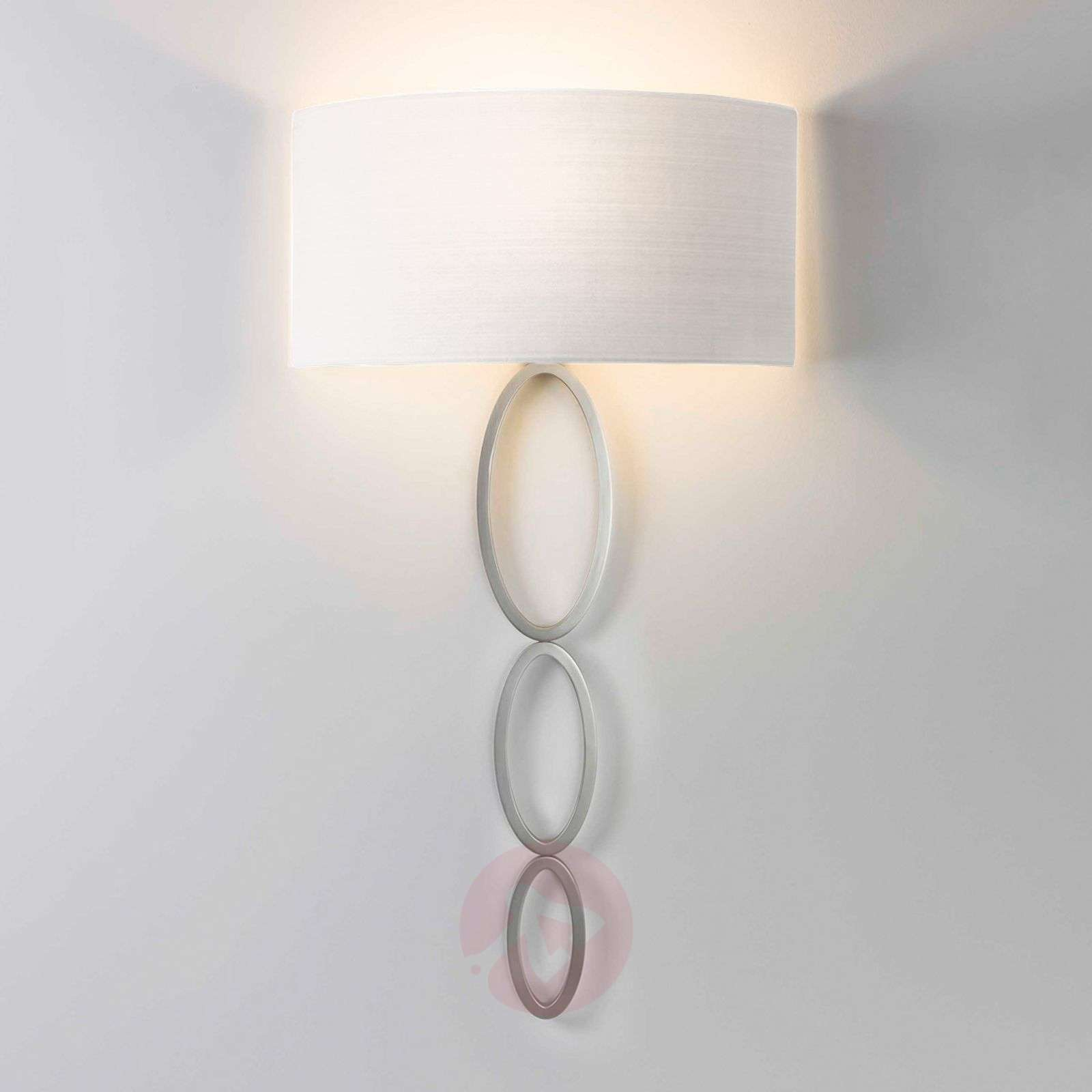 Wall light Valbonne with a white lampshade, nickel-1020513-01