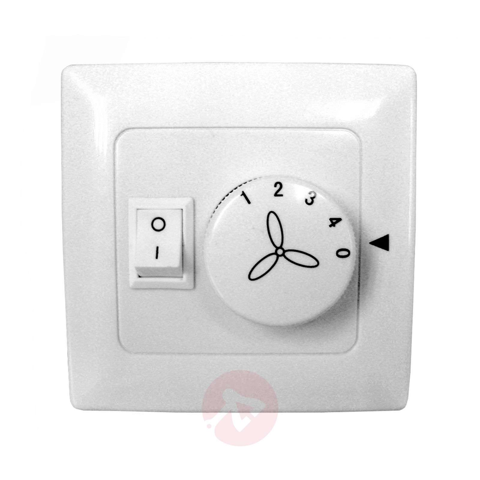 Wall switch for fans with lights, four levels-9602072-09