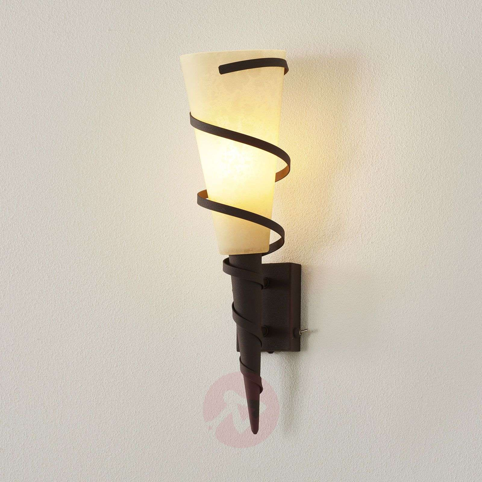Wall torch Maya in country house style-9004413-01