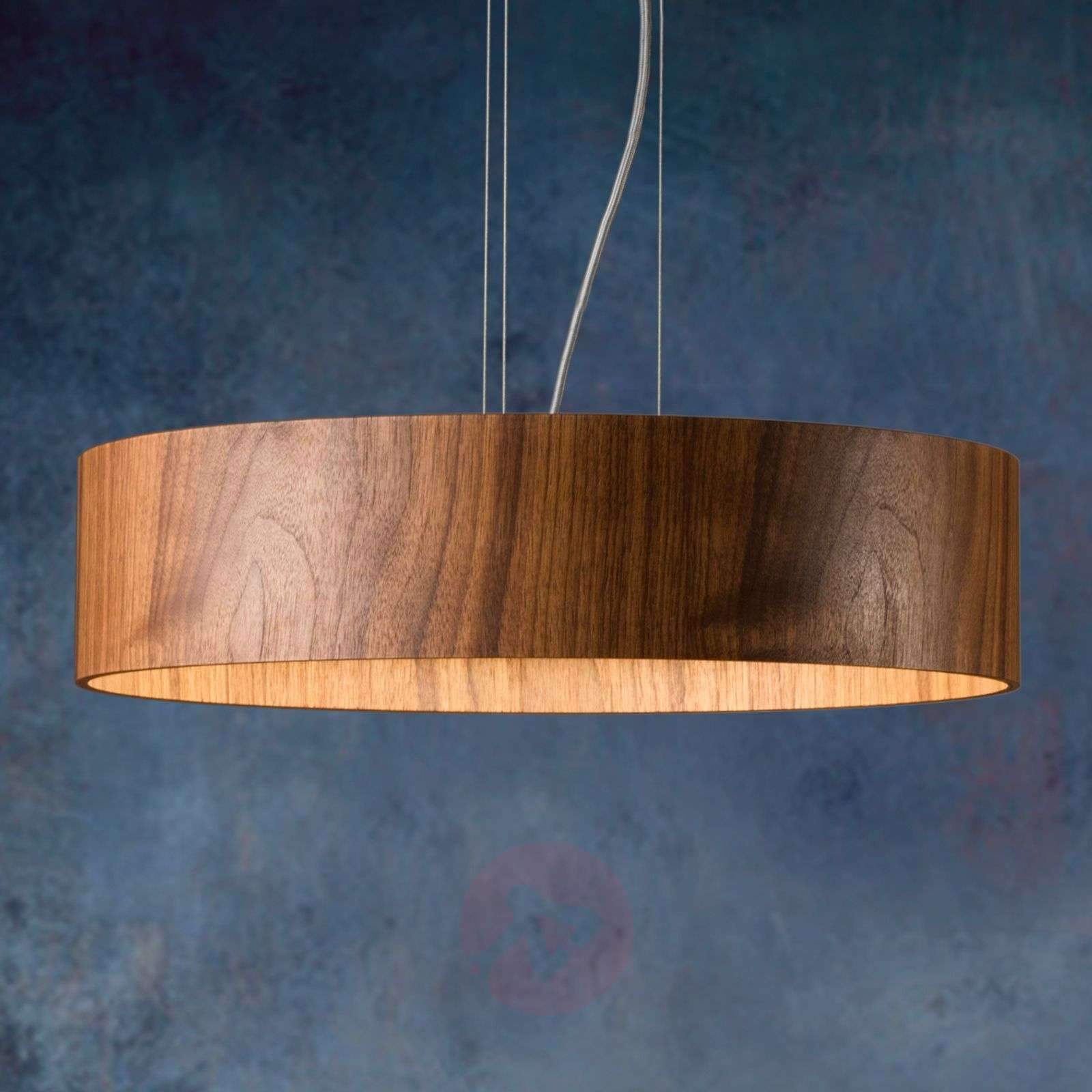Walnut hanging light Lara Wood with LEDs-2600525-01