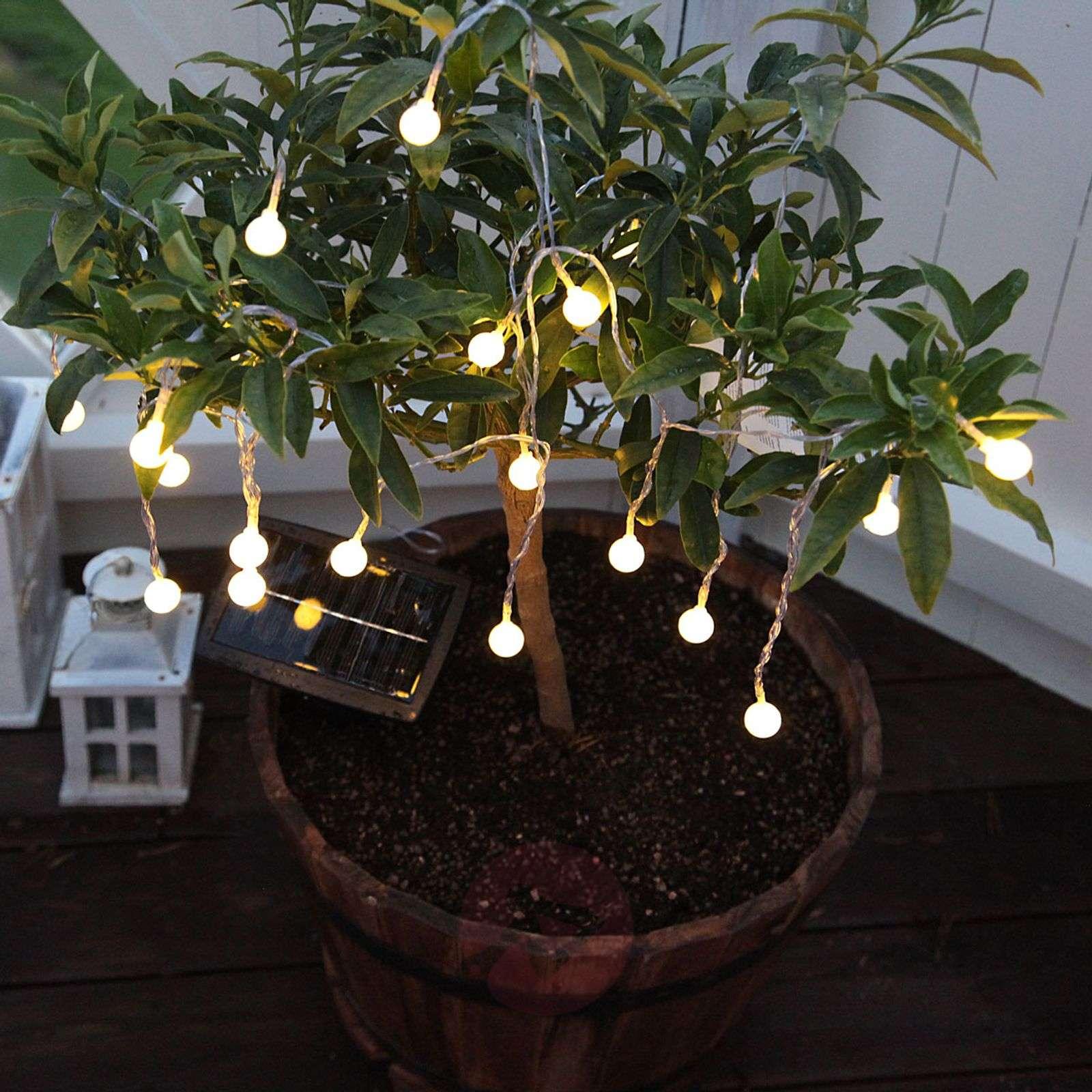 Warm white shining LED solar string lights Balls-1522717-01
