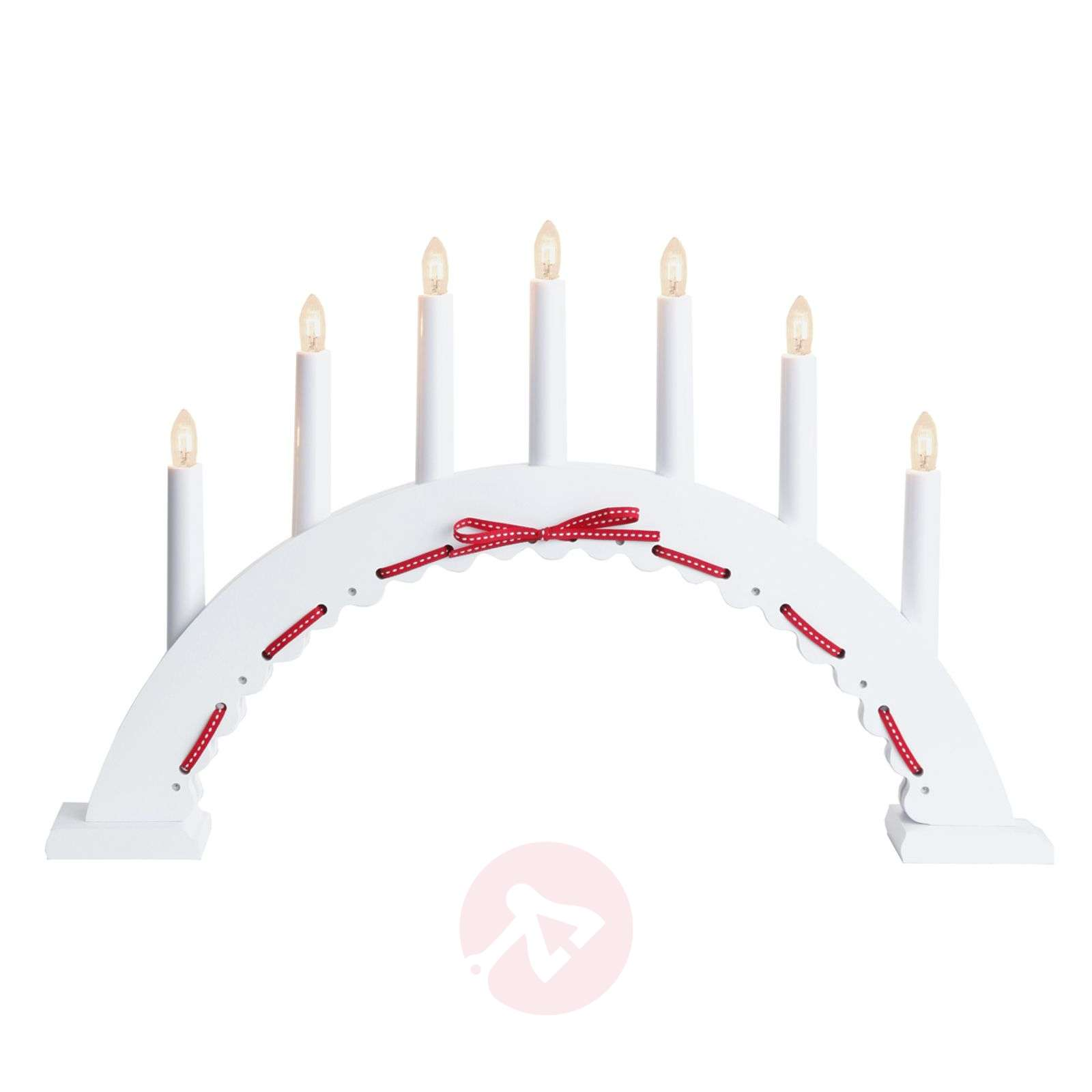 White and red candle arch Vira, 7 lights-1522675-01
