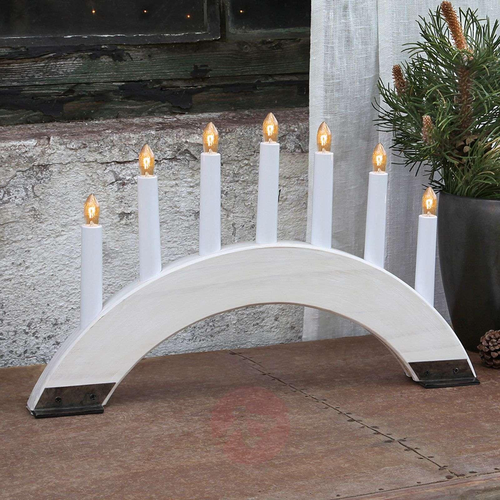 White candleholder Viking Bow, 7 lights-1522560-01