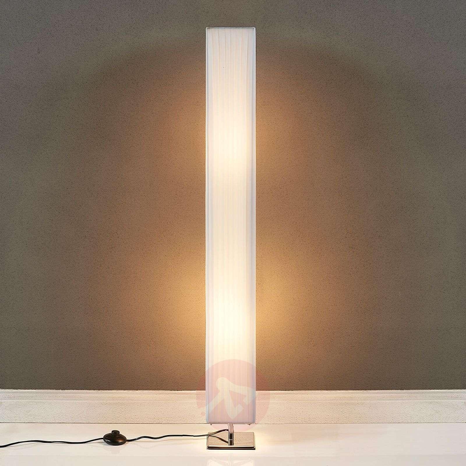 White fabric floor lamp Janno | Lights.ie