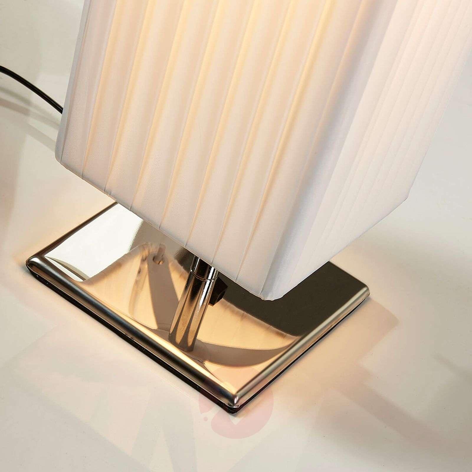 White fabric floor lamp Janno-9621055-02