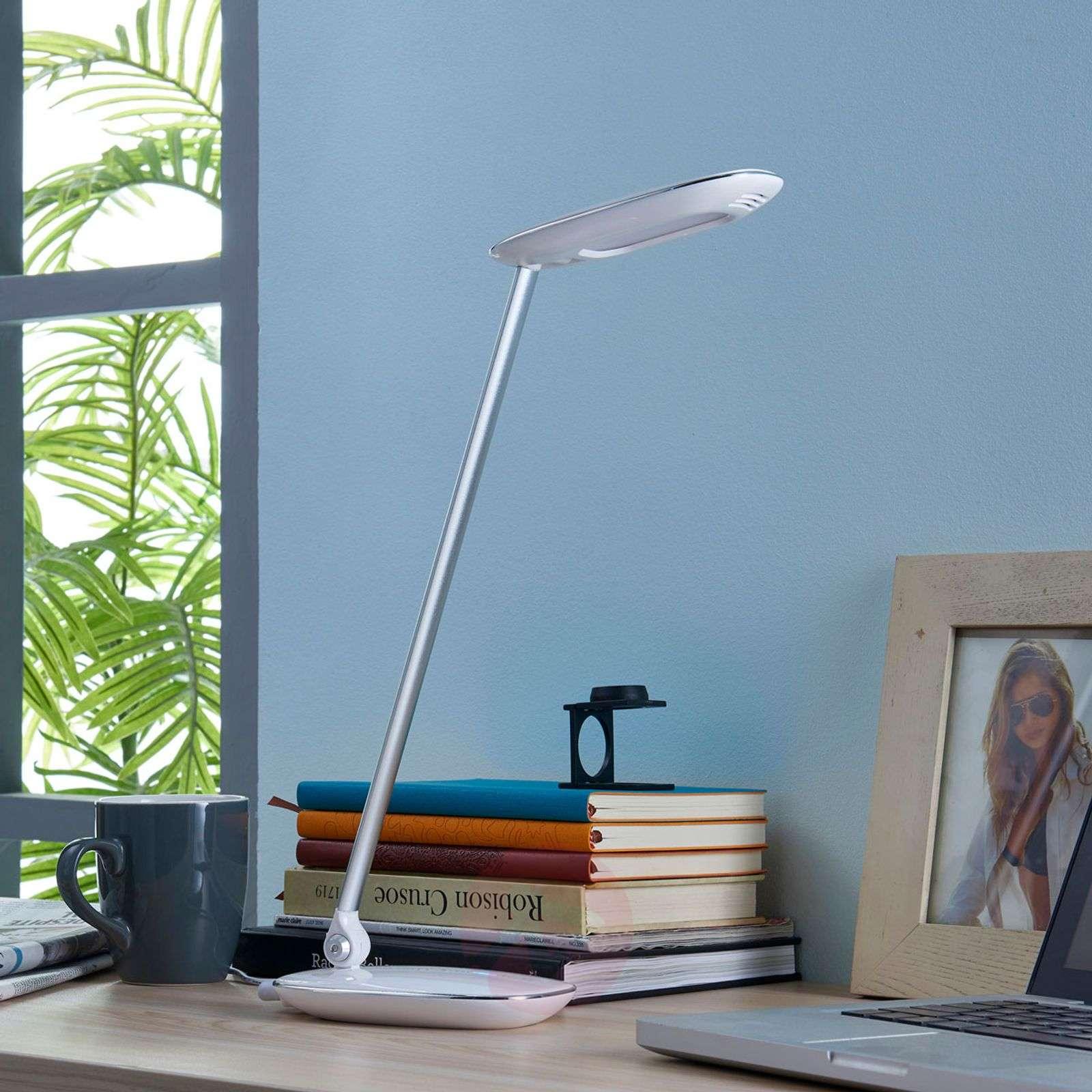 White LED desk lamp Verena, USB port-9621312-02