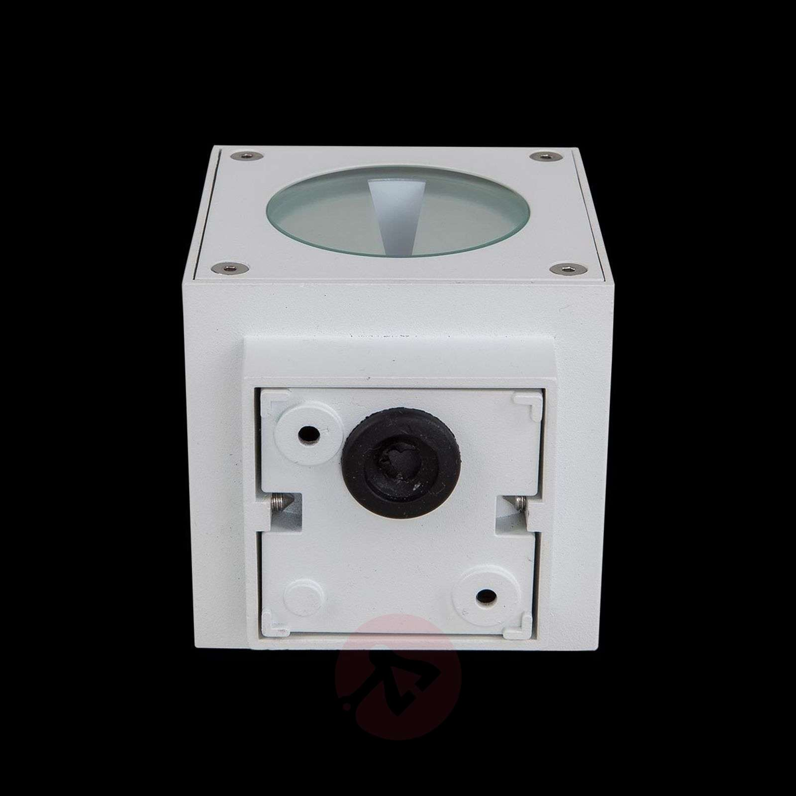 White LED outdoor wall light Jarno, cube form-9616010-01
