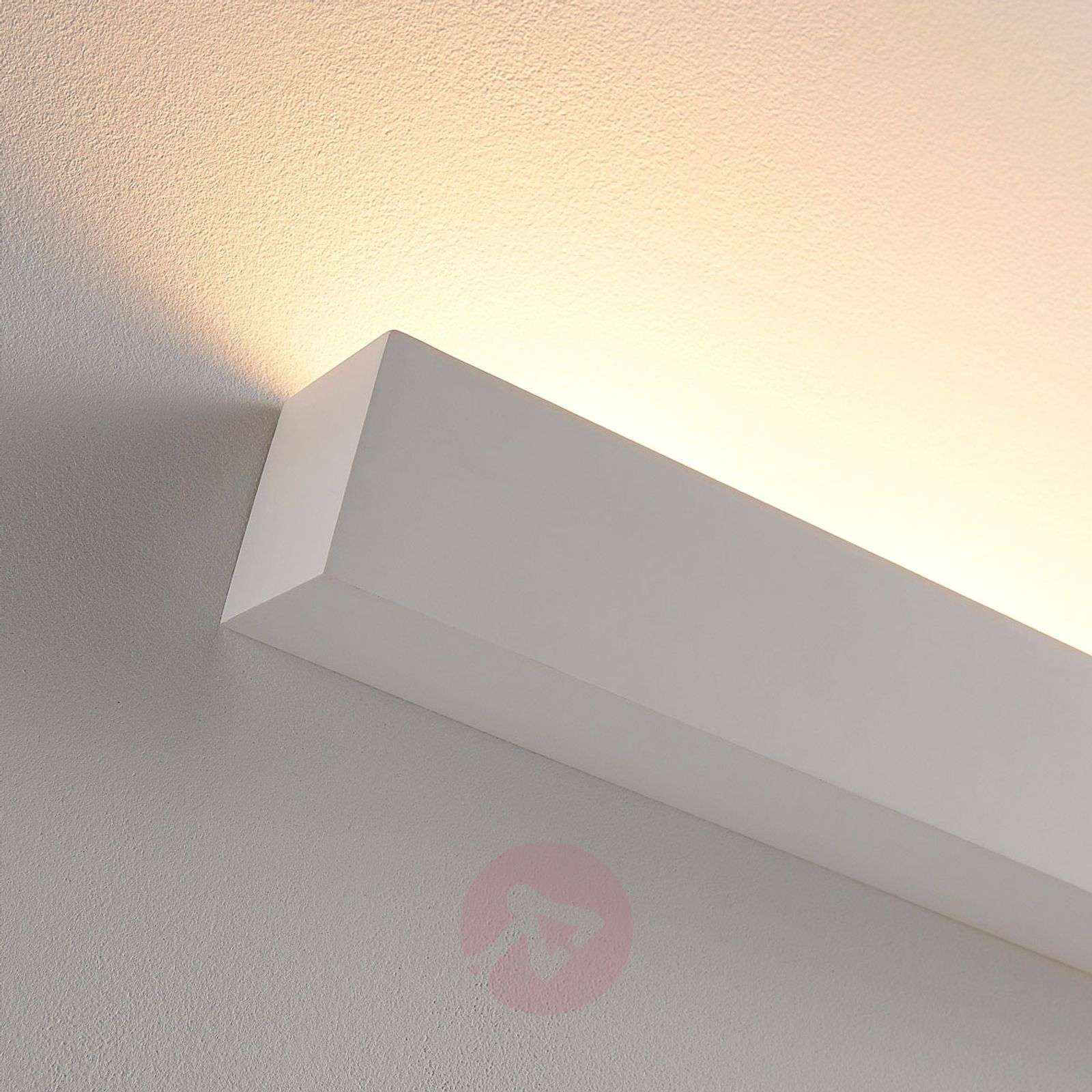 White LED plaster wall uplighter Santino, angular-9621335-02