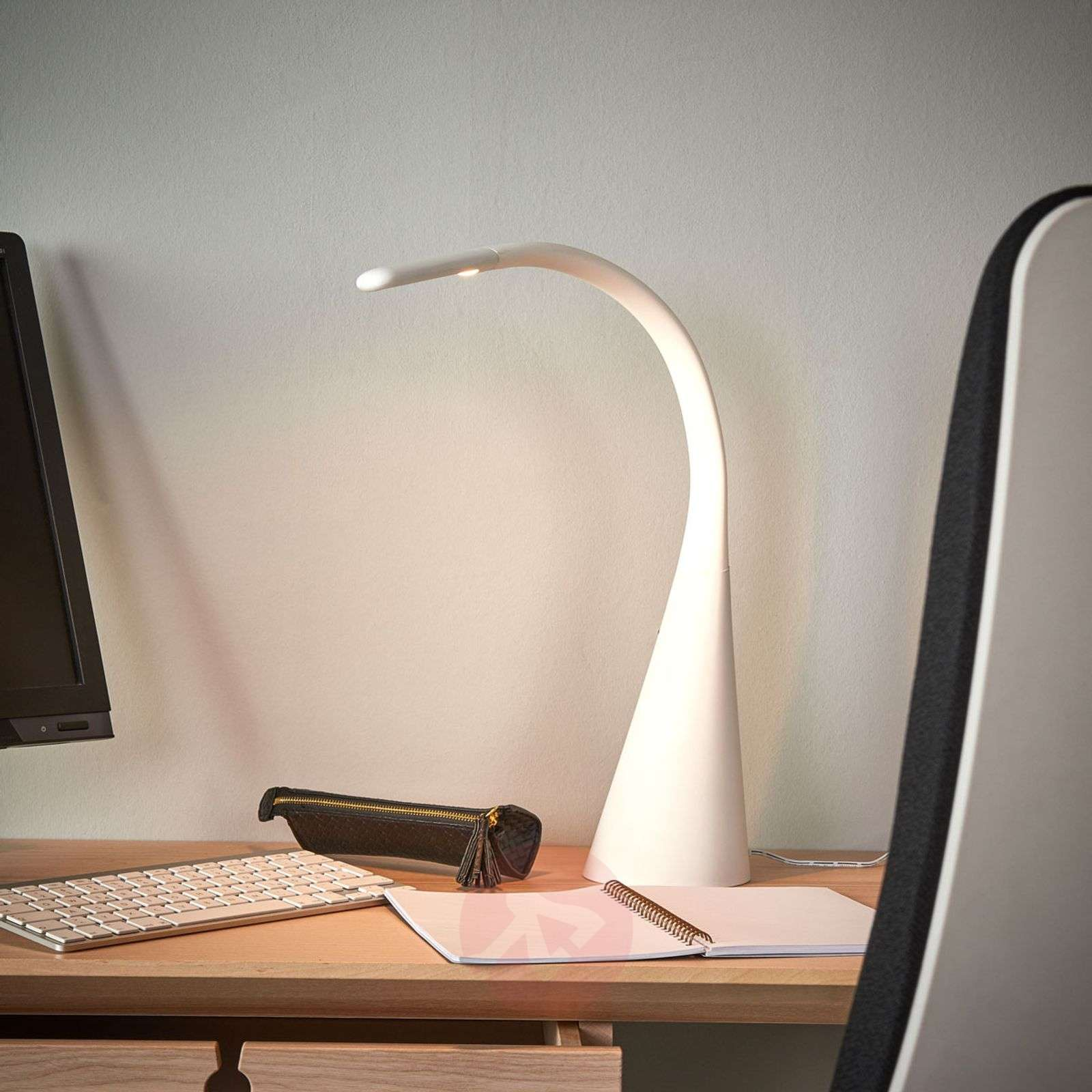 White LED table lamp Majani, dimmable and with USB-9643032-02