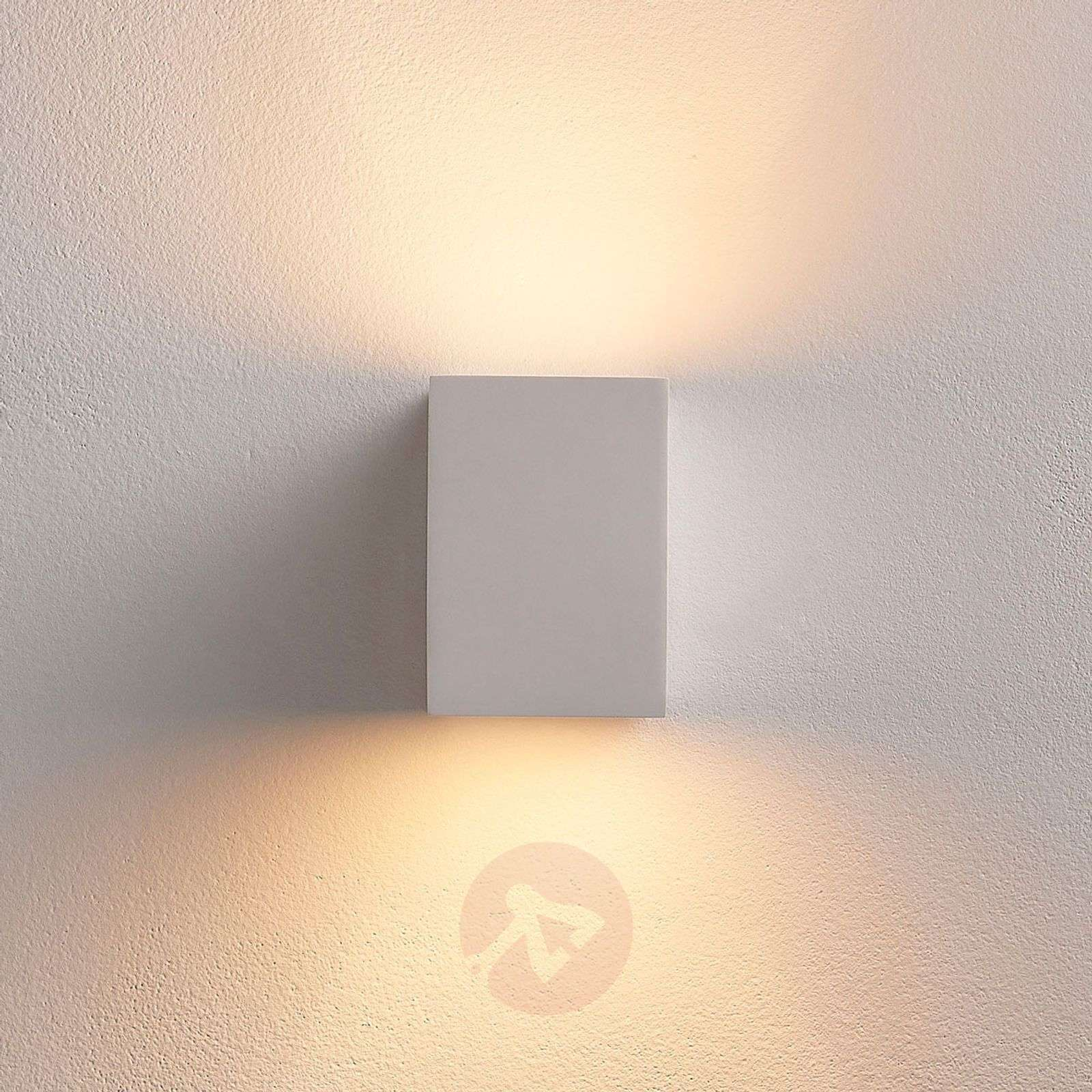 White LED wall light Jannes made from plaster-9621339-02
