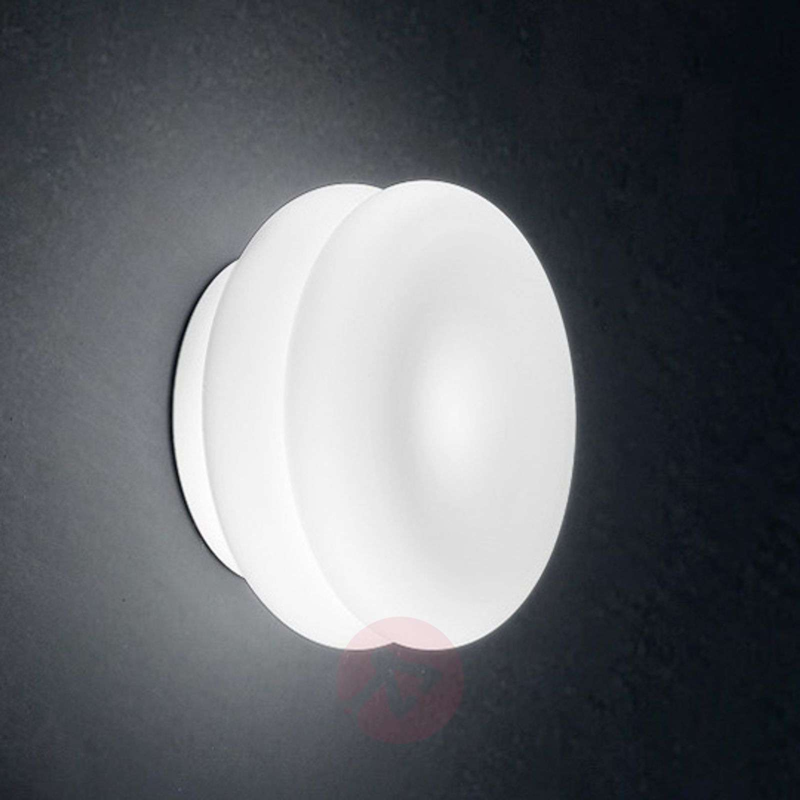White Dimmable Wall Lights : White LED wall light Wimpy made of glass Lights.ie