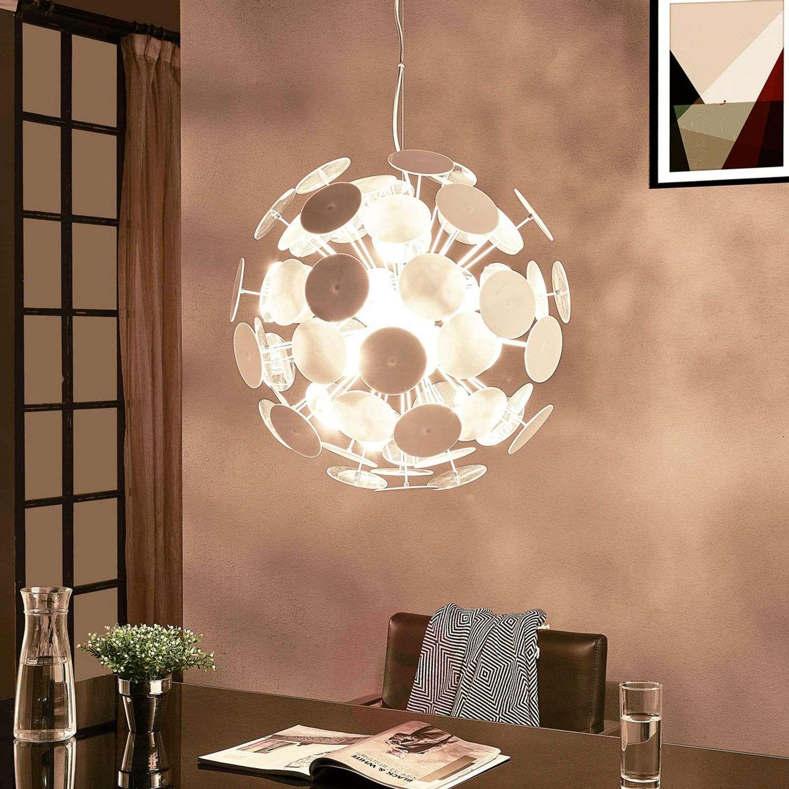 White pendant lamp Kinan with panes-9621168-02