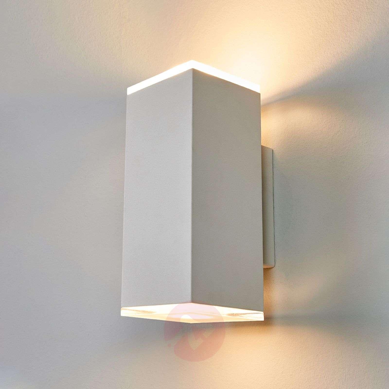 White rectangular led wall lamp scarlet