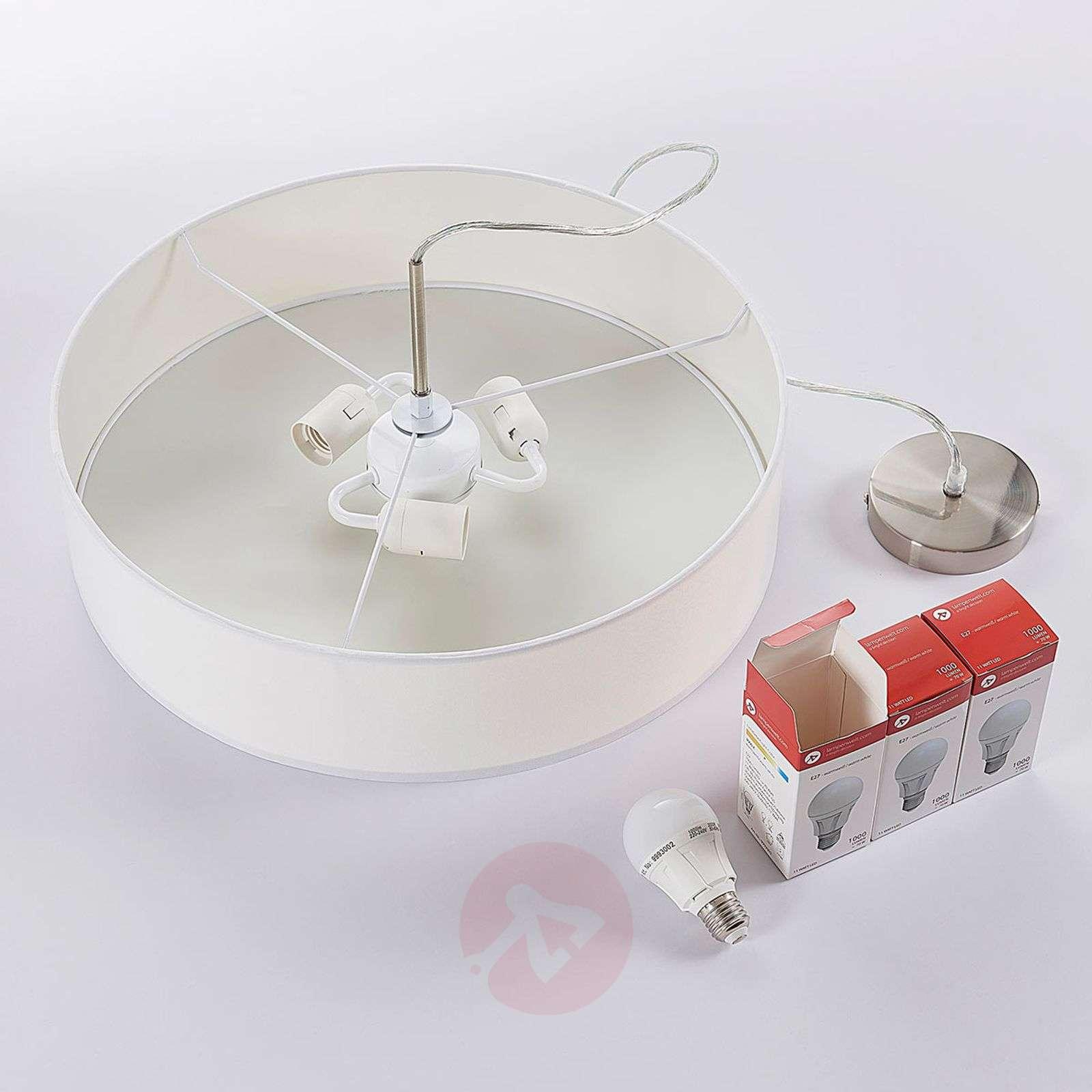 White Sebatin LED fabric pendant lamp-9620321-02