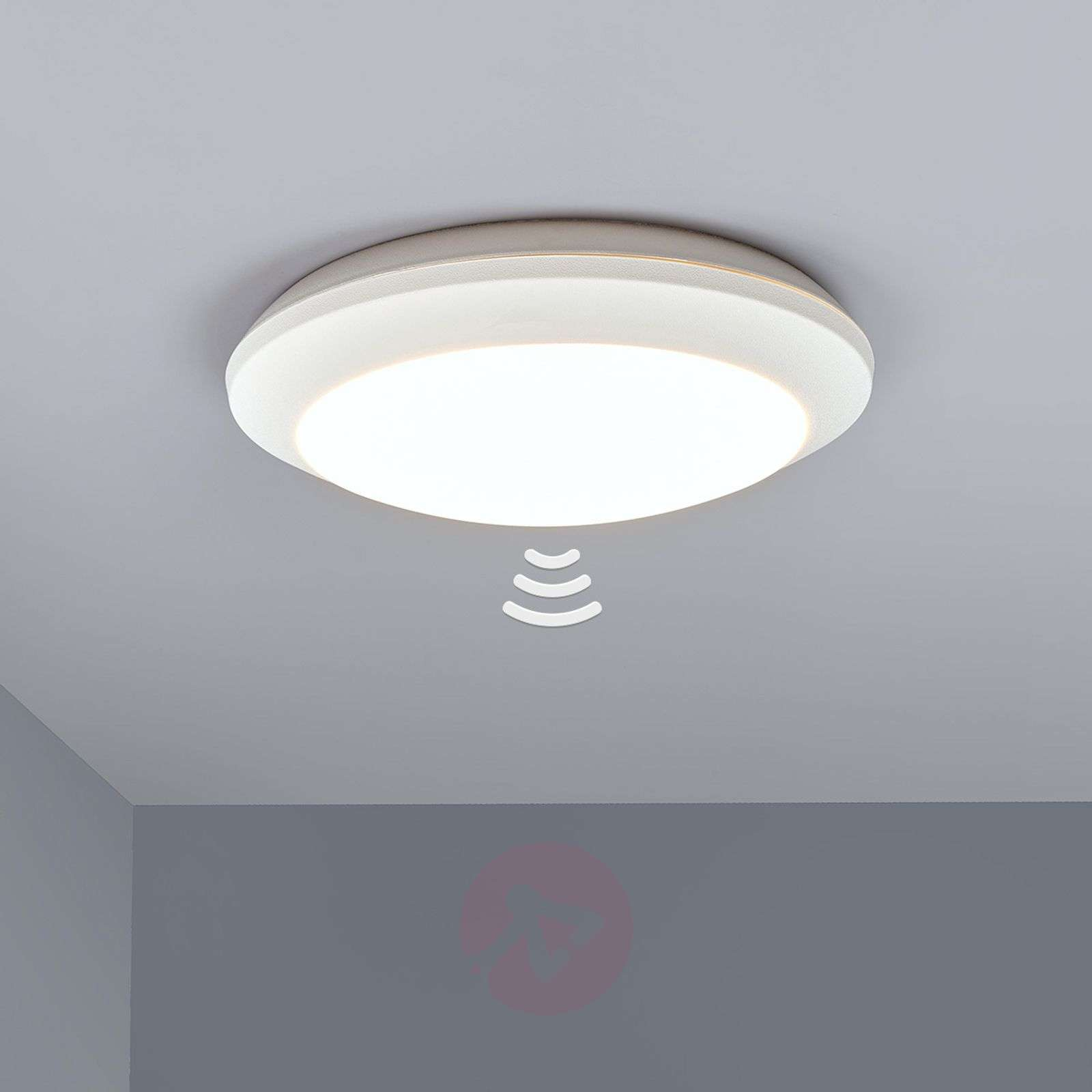 White sensor ceiling light Umberta 11W 3,000K-3538057-02