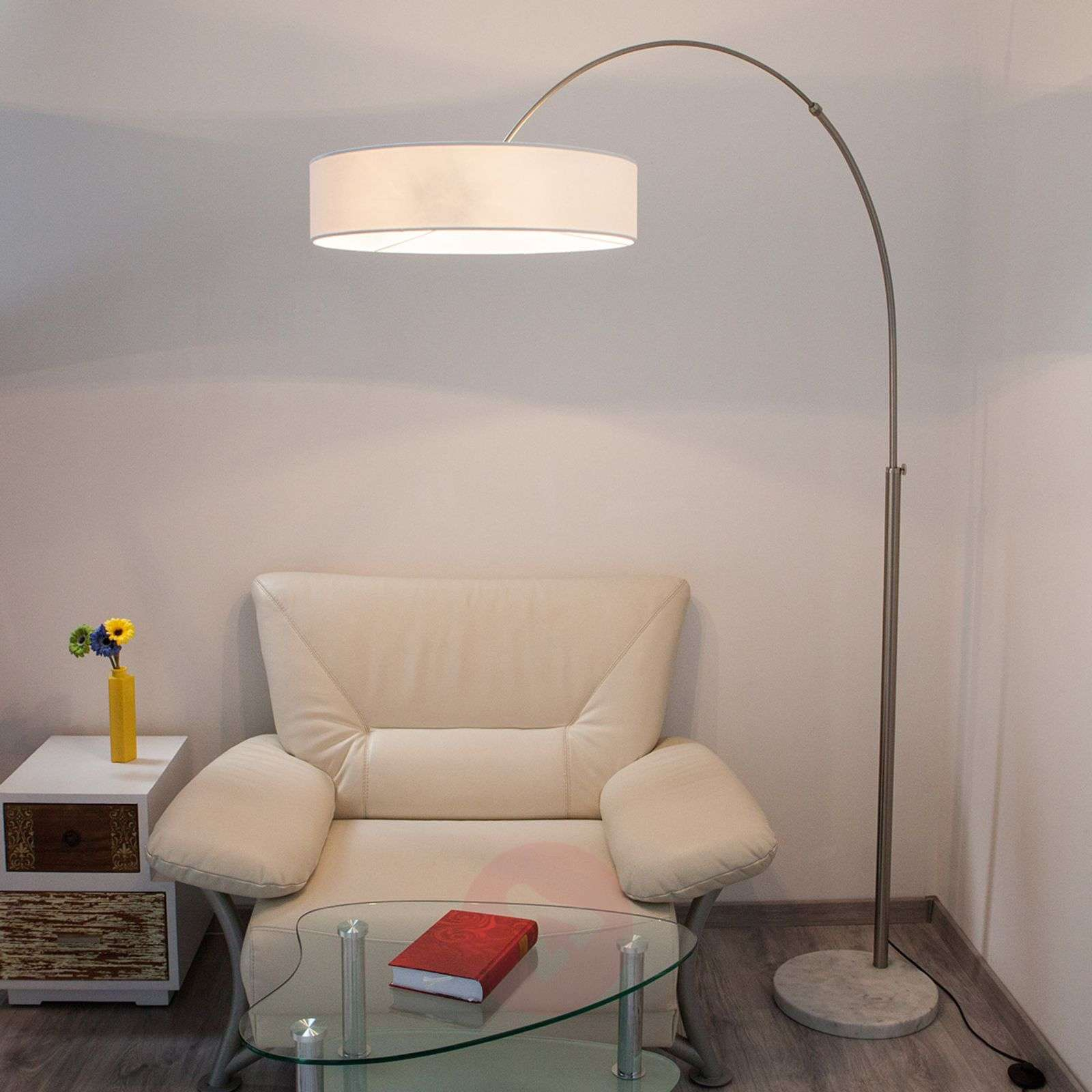 White Shing fabric floor lamp-9620142-01