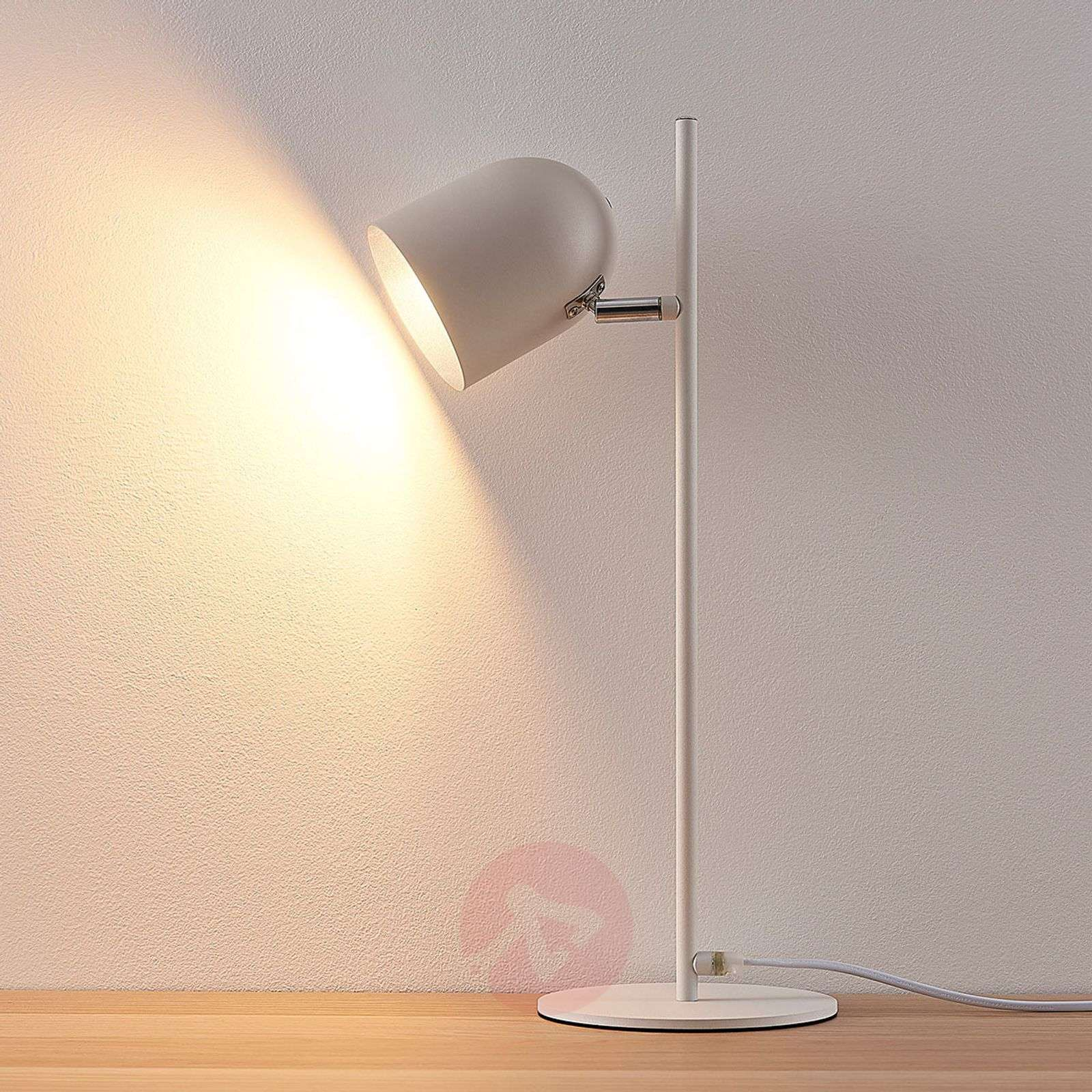 White-silver table lamp Morik in a modern style-9624161-02