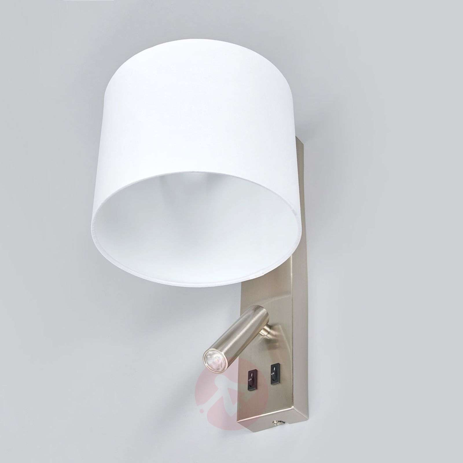 White wall lamp Mavis with LED reading light-9641099-02